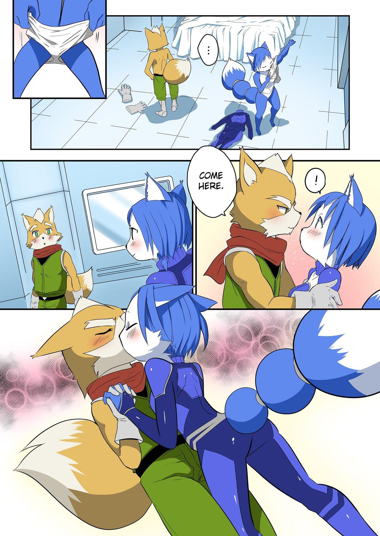 Krystal and Fox porn comics Masturbation, Furry