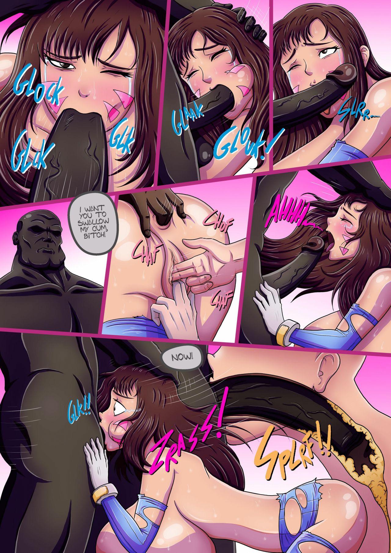 Overwatch X- D.VA's humiliation porn comics Oral sex, Anal Sex, Big Tits, Double Penetration, Futanari, Group Sex, Latex, Rape, Titfuck