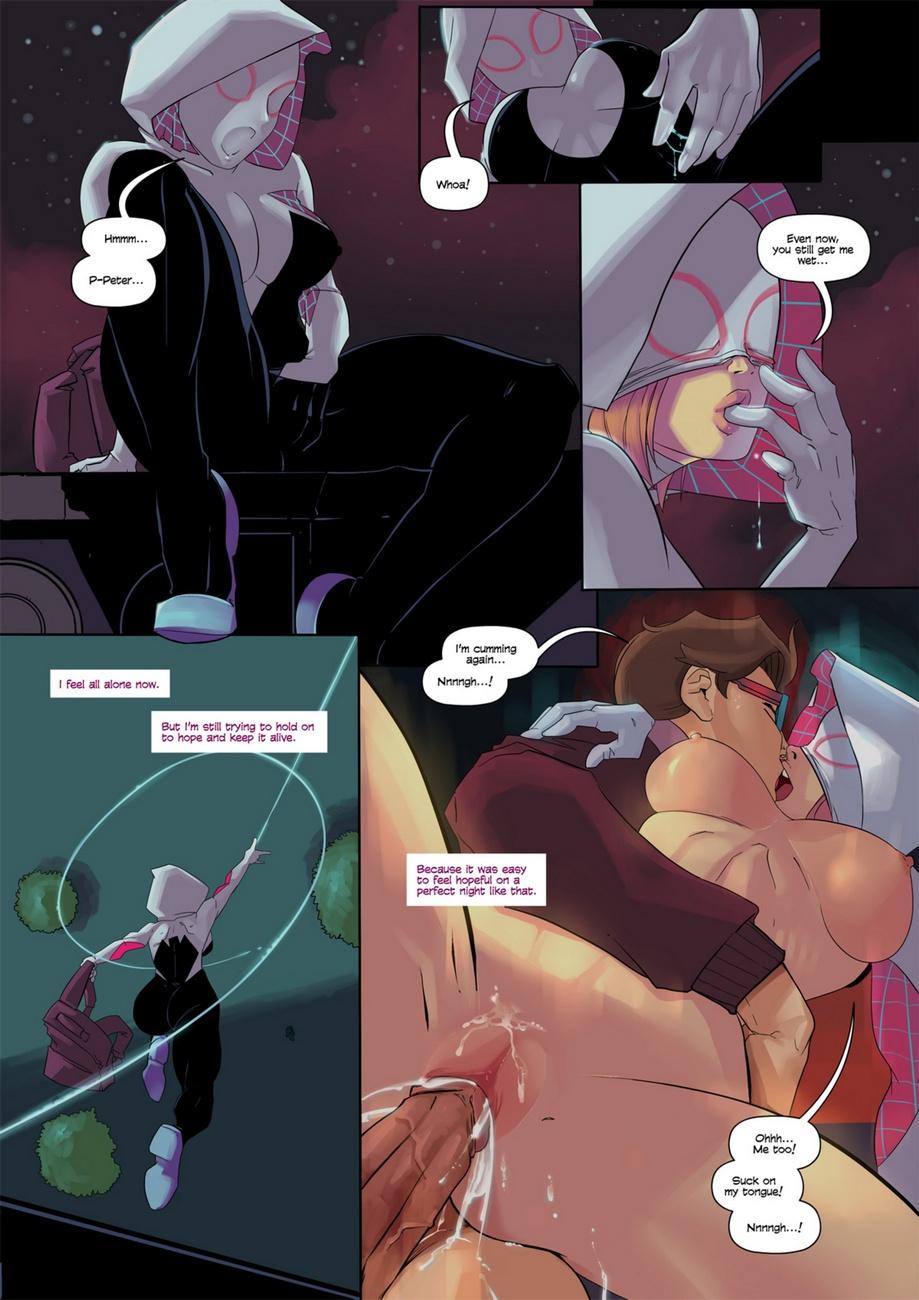Spider-Gwen porn comics Oral sex, Masturbation