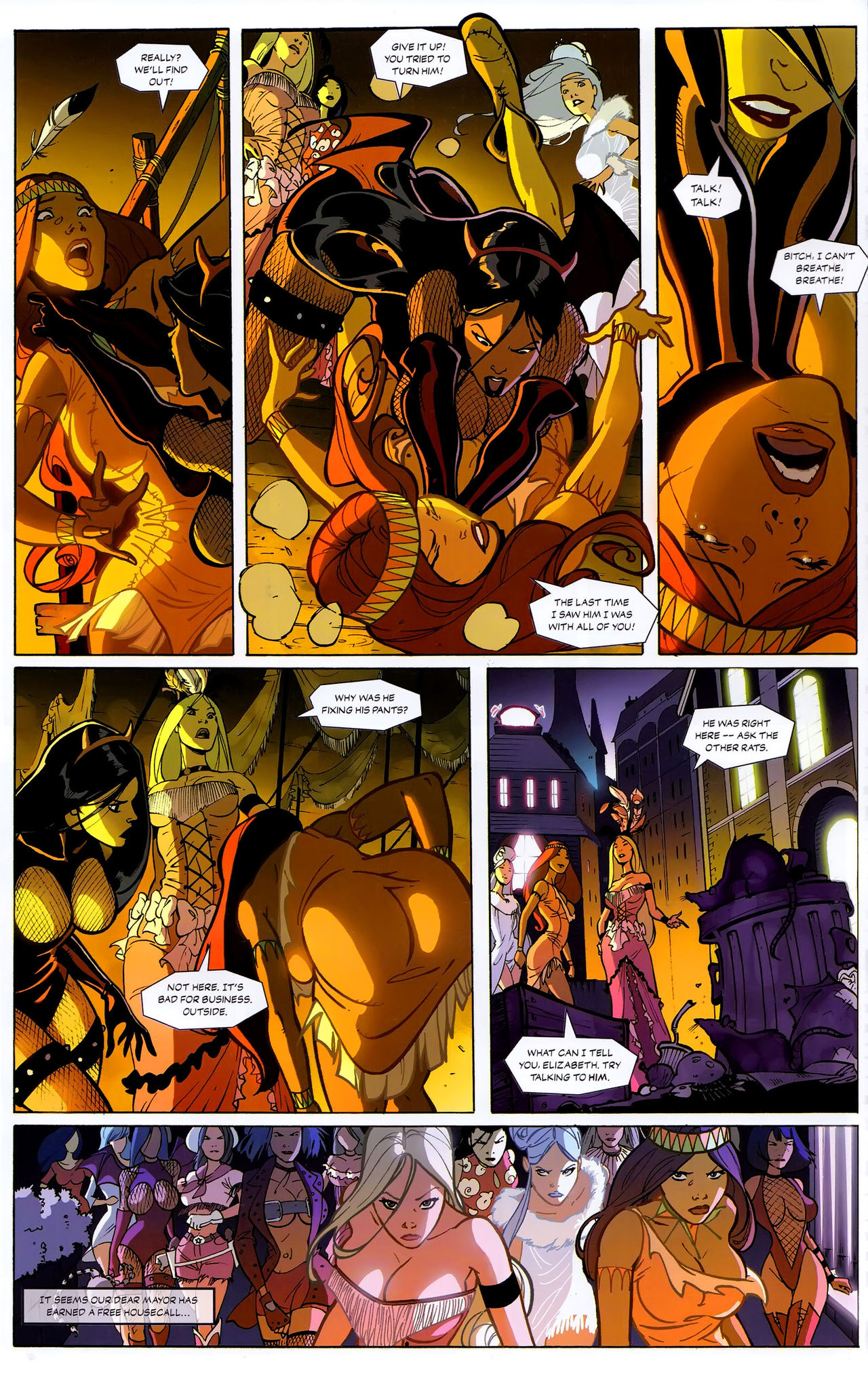 The Route Of All Evil 01 porn comics Lesbians, Bikini, Stockings
