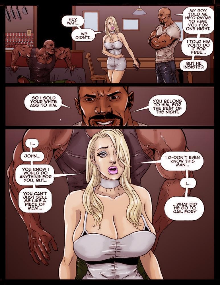 2 Hot Blondes Submit to Big Black Cock porn comics Oral sex, Big Tits, Titfuck