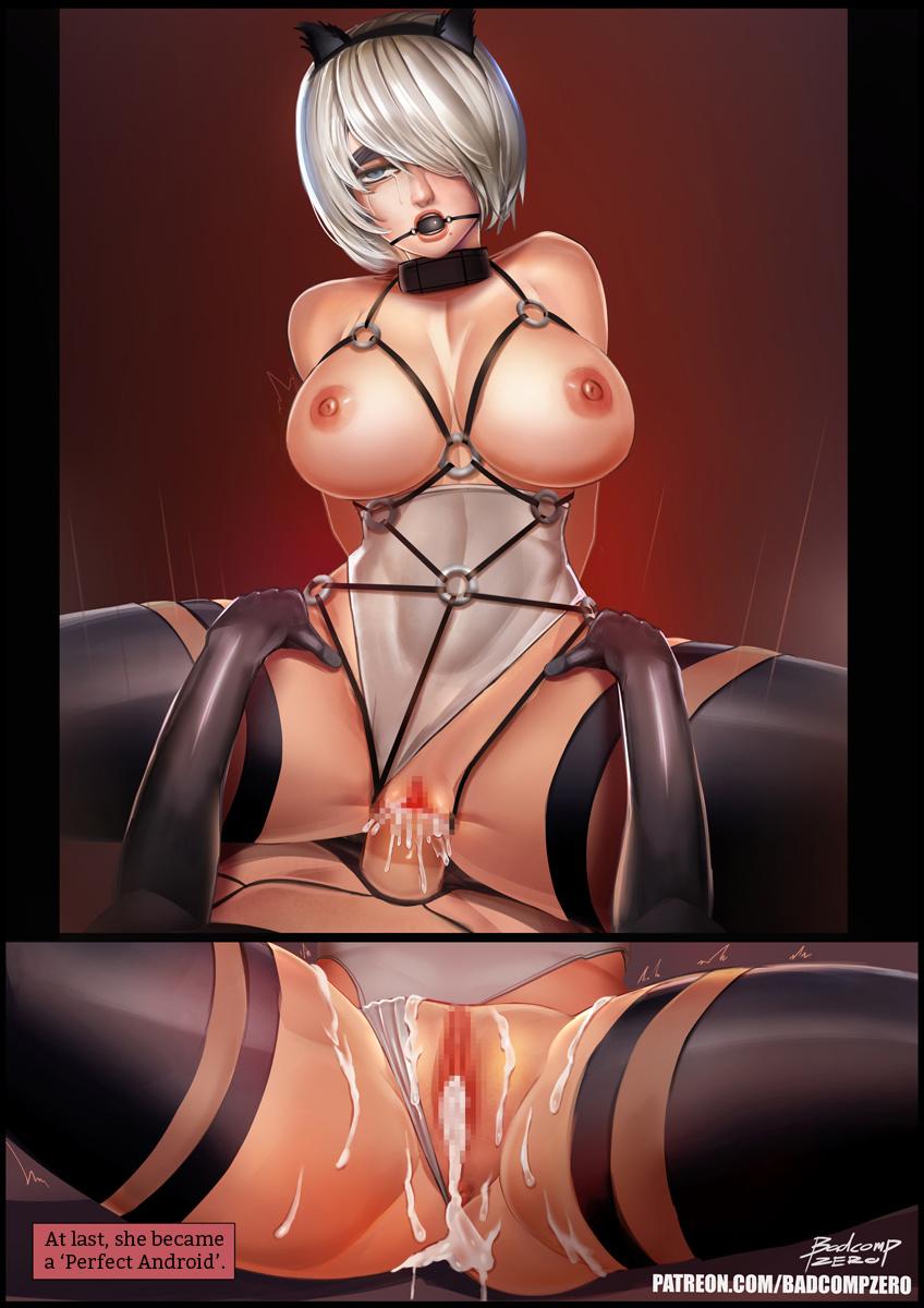 2B[SM] porn comics Oral sex, BDSM, Stockings