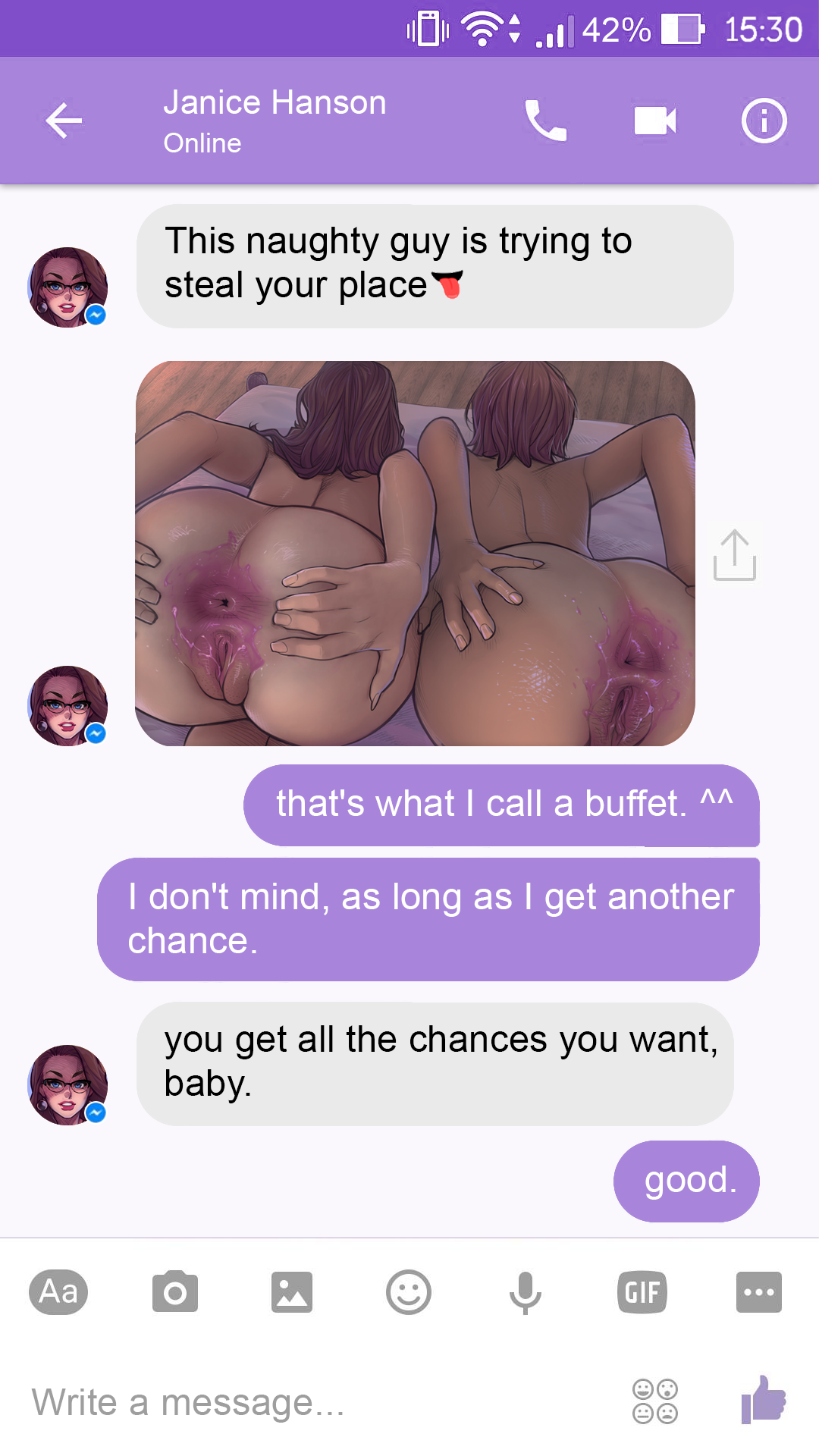 A Chat with Janice porn comics Oral sex, Big Tits, cunnilingus, Sex Toys