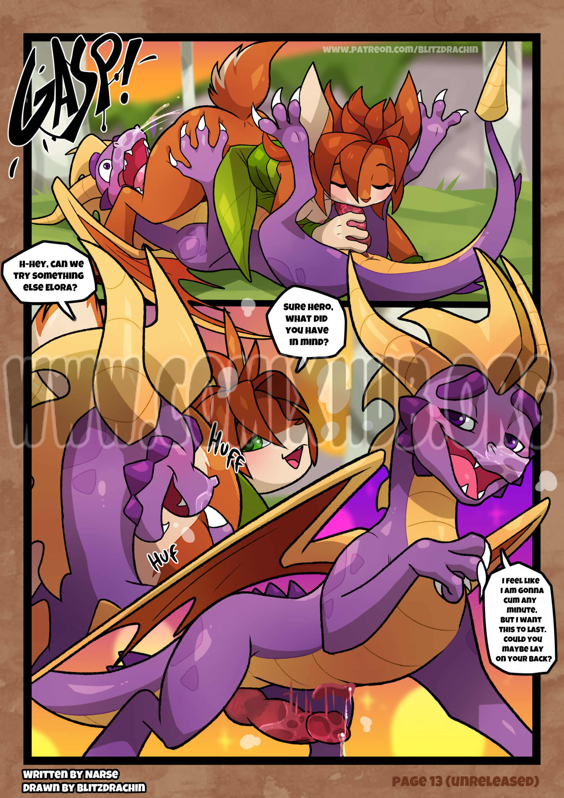 A Time with the Hero porn comics Oral sex, Blowjob, Creampie, cunnilingus, Fantasy, Furry, Straight, X-Ray