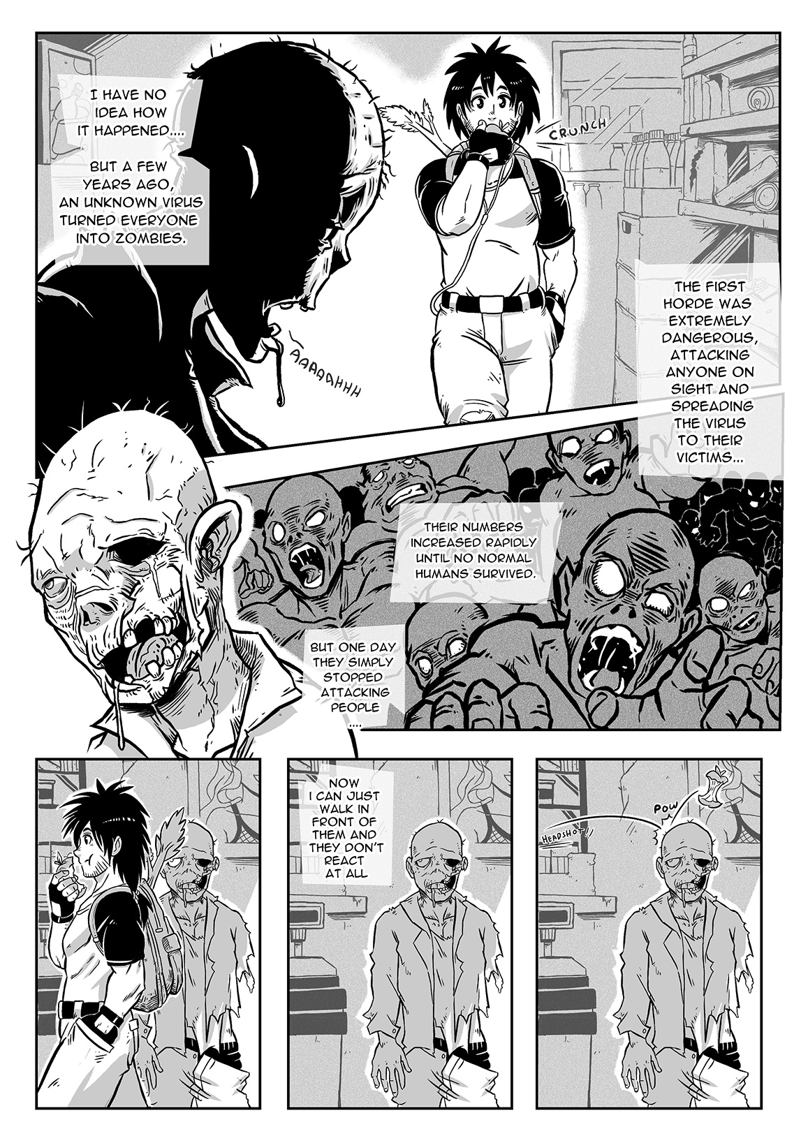 A Zombie Fell for Me porn comics Oral sex, Blowjob, Creampie, Monster Girls, Straight