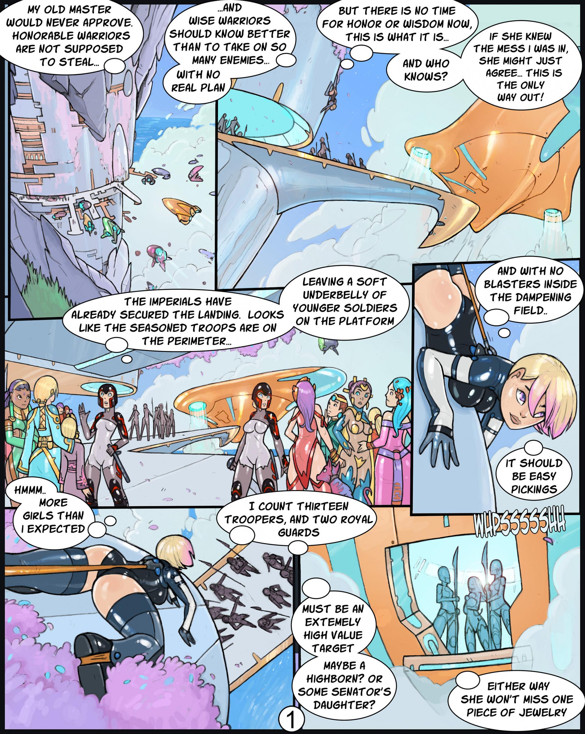 Adventures of Senya porn comics Stockings, BDSM, Latex, Sci-Fi