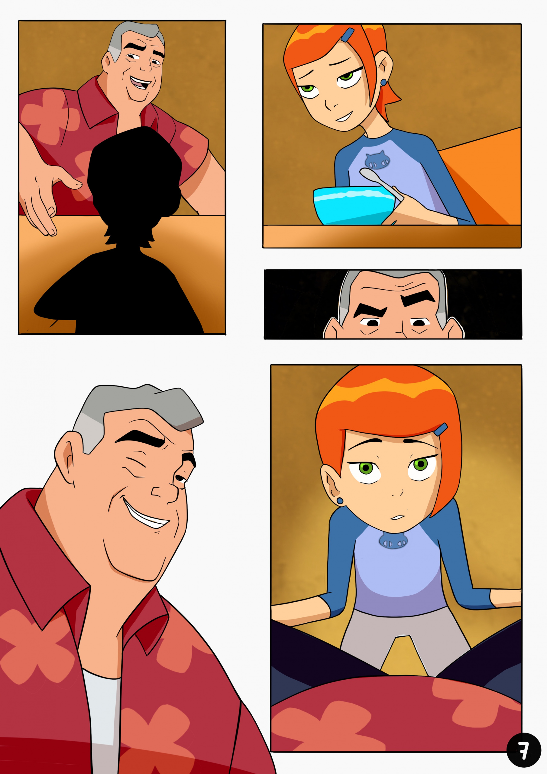Amazing Adventures of Gwen and Her Abusive Grandfather porn comics Oral sex, Blowjob, Cum Shots, incest, Lolicon, Masturbation, Straight