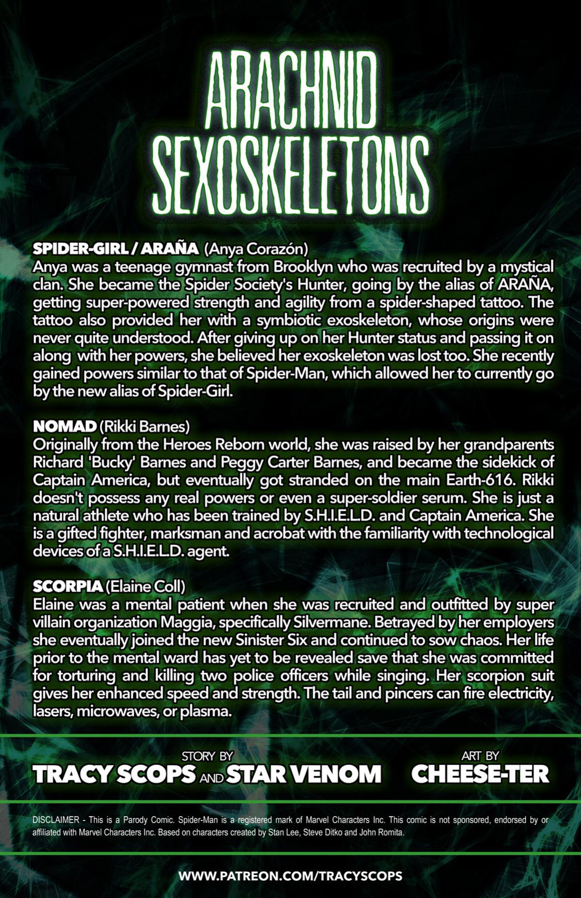 ARACHNID SEXOSKELETONS porn comics Oral sex, Blowjob, Cum Swallow, Futanari, Lesbians, Monster Girls, Rape, Sex Toys, Stockings, Straight