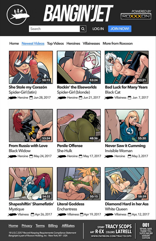 Bangin' Jet porn comics Anal Sex, Blowjob, Creampie, Cum Shots, Double Penetration, Gangbang, Latex, Oral sex, Straight, Threesome