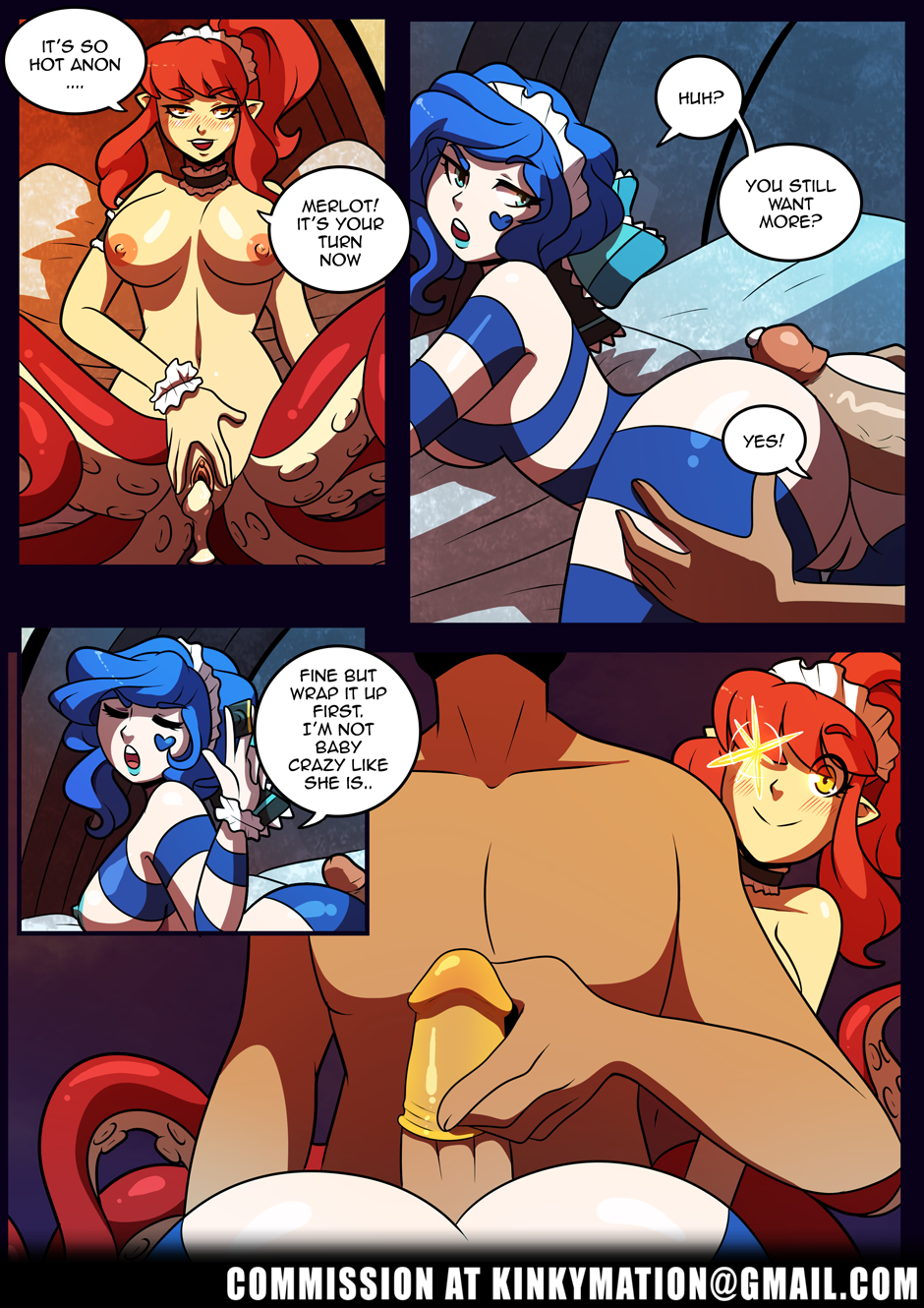 Birthday Maid porn comics Oral sex, Group Sex, Monster Girls, Tentacles