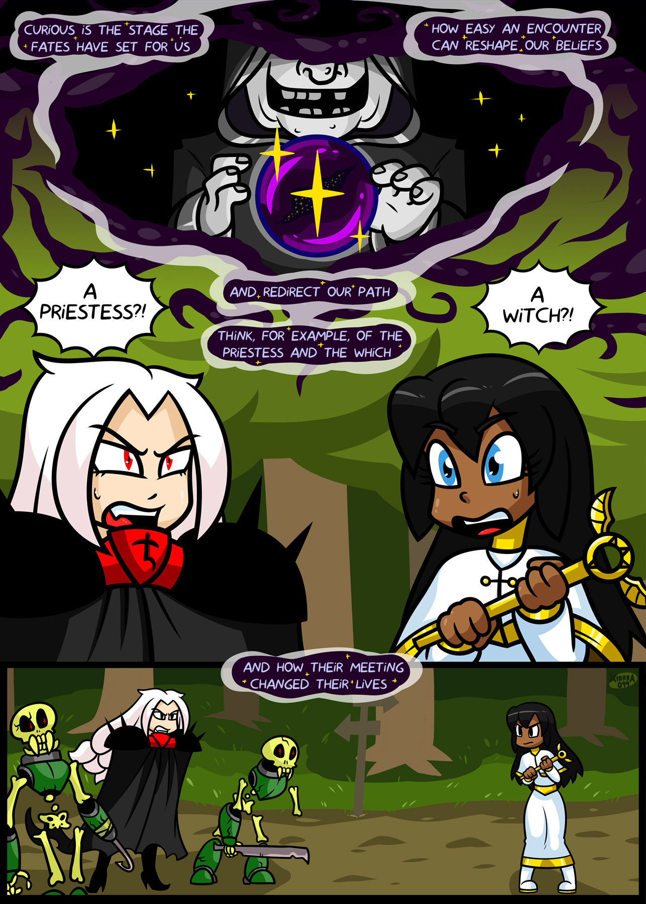 Bright Darkness - The Priestess And The Witch porn comics cunnilingus, Lesbians, Oral sex
