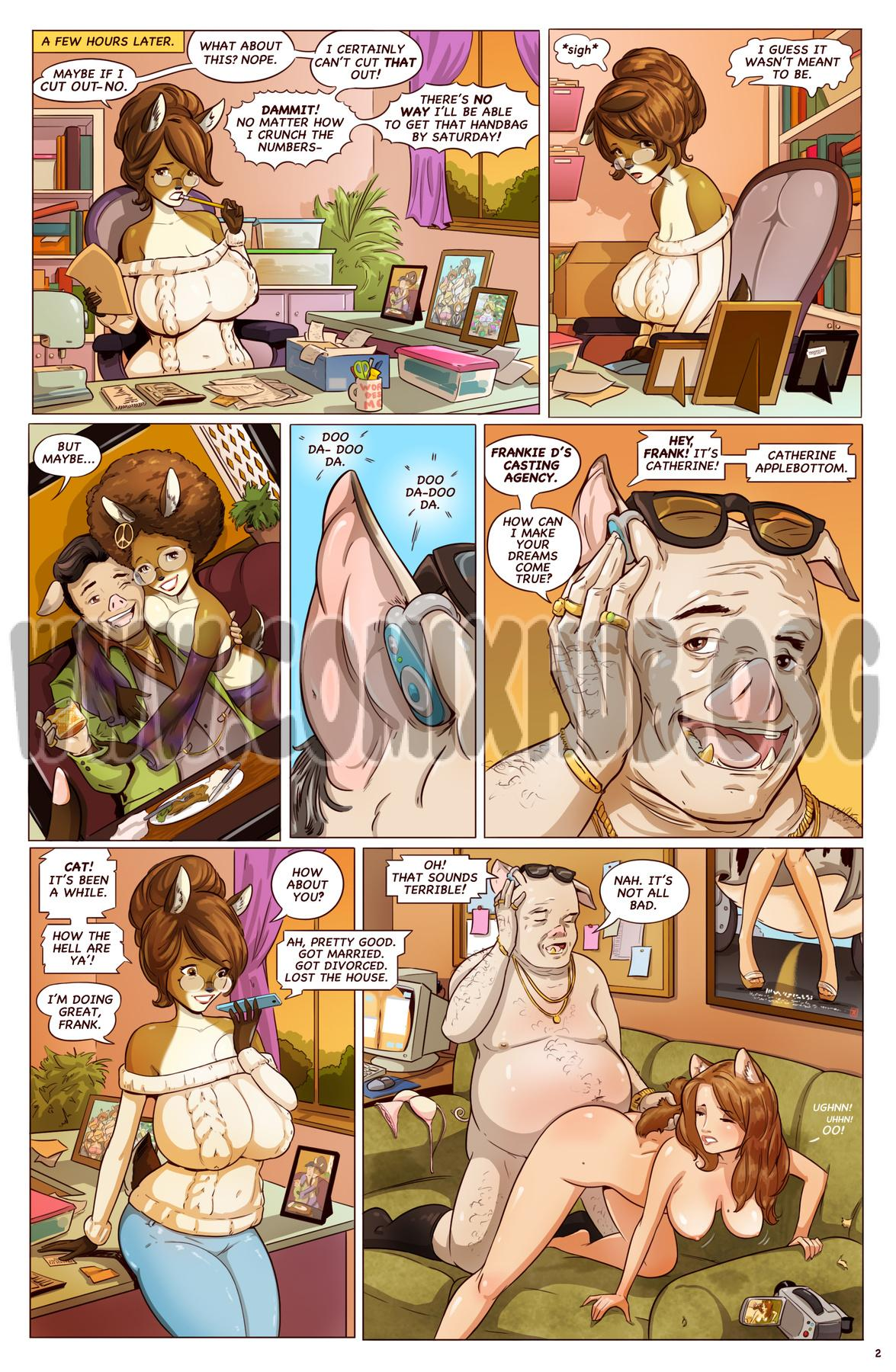 Catherine Applebottom - Back in Action! porn comics Oral sex, Blowjob, Gangbang, Glasses, Straight, Titfuck