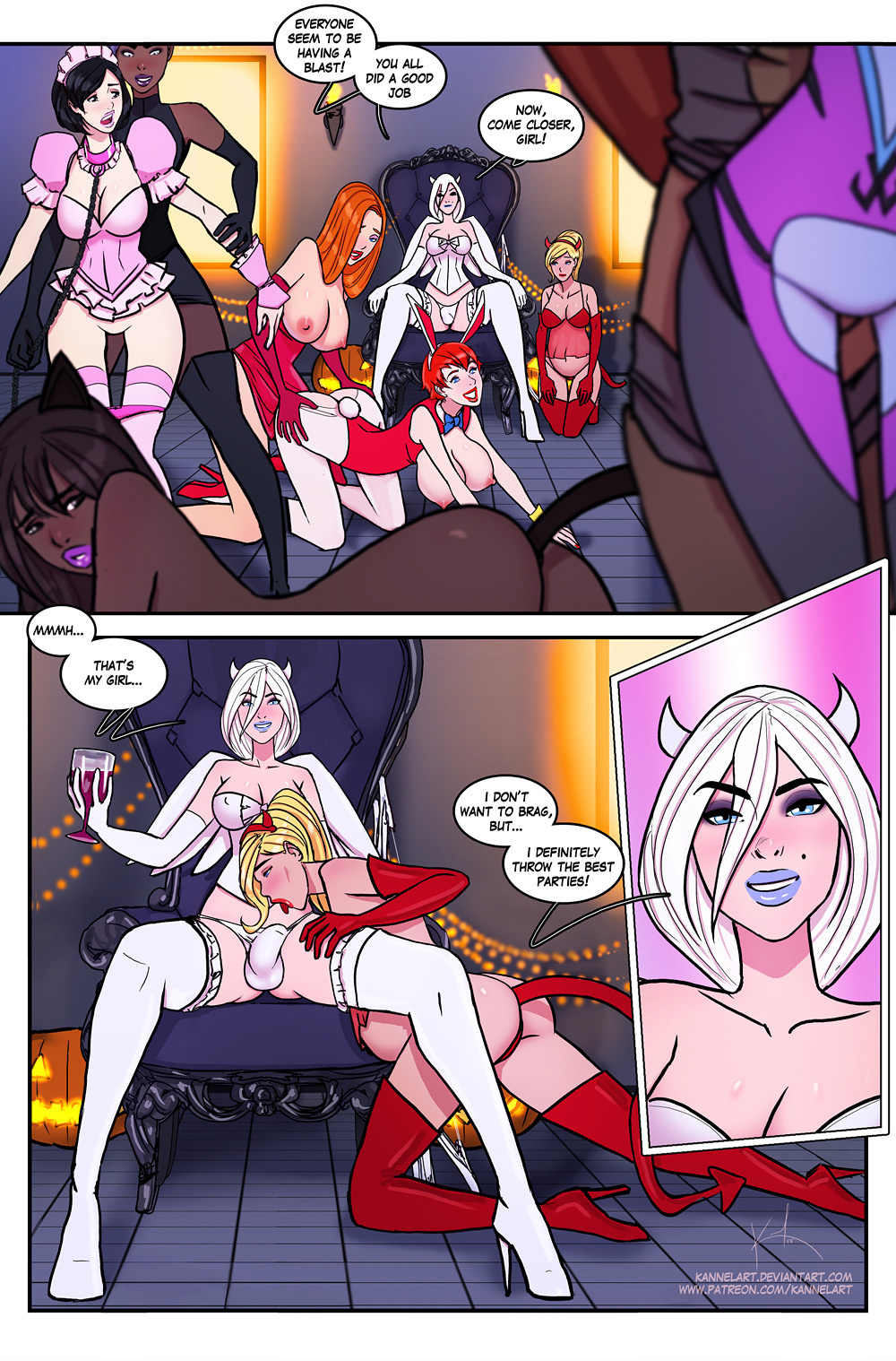 Costume Party Extravaganza Year Two porn comics Group Sex, Big Tits, Lesbians, Stockings