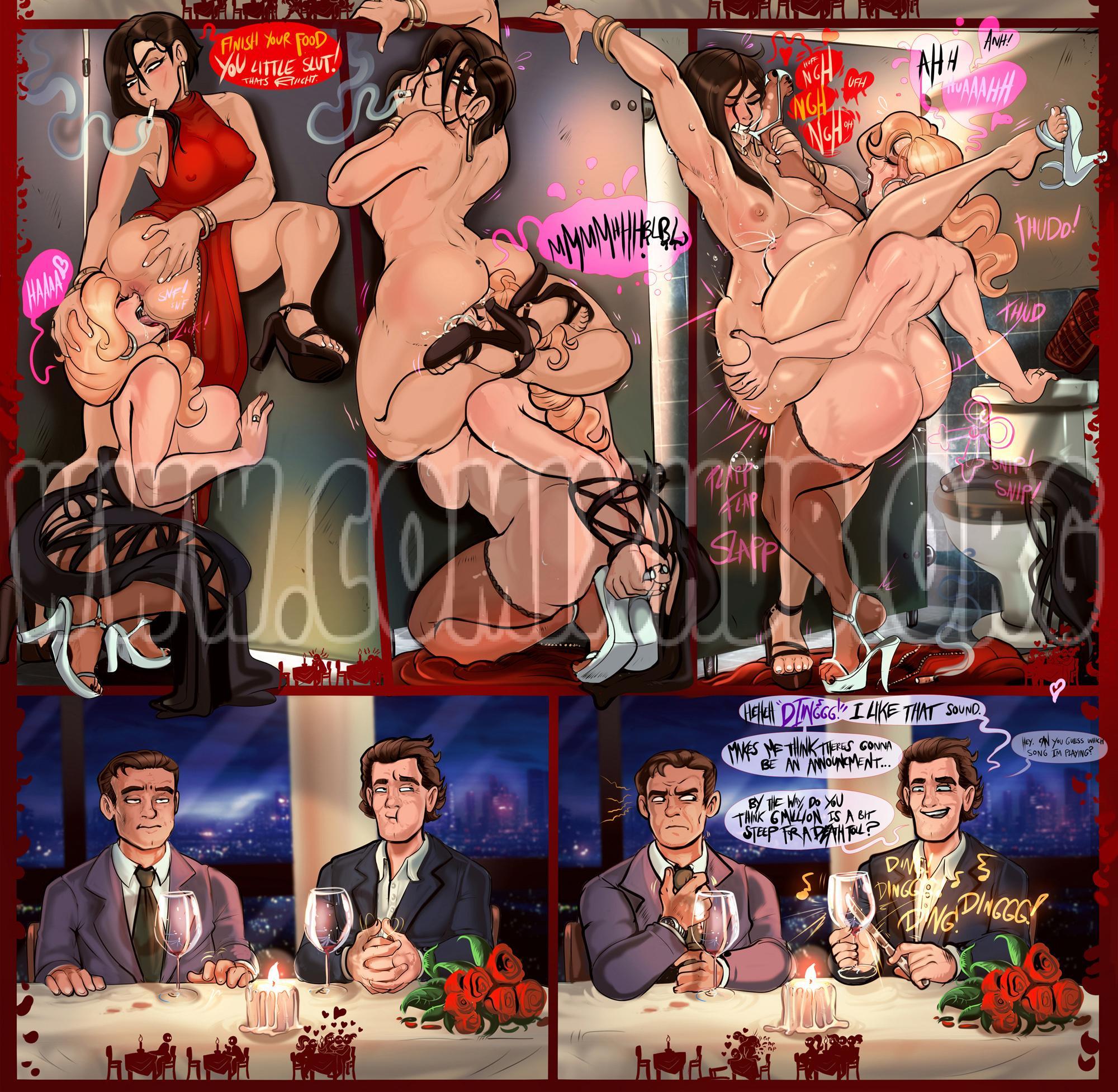 Datenight porn comics Oral sex, cunnilingus, Lesbians