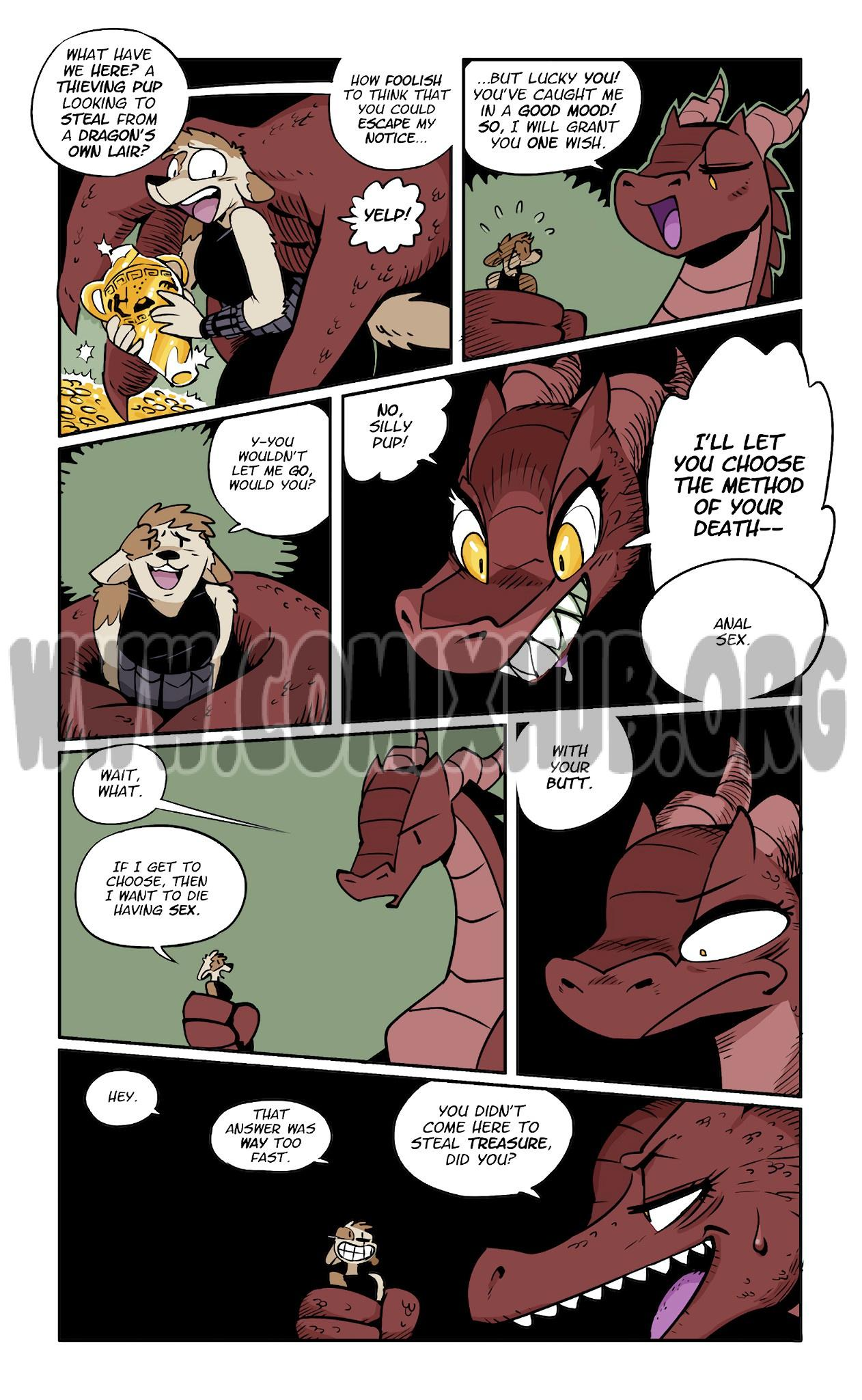 Death by Dragon Butt porn comics Anal Sex, Fantasy, Furry, X-Ray