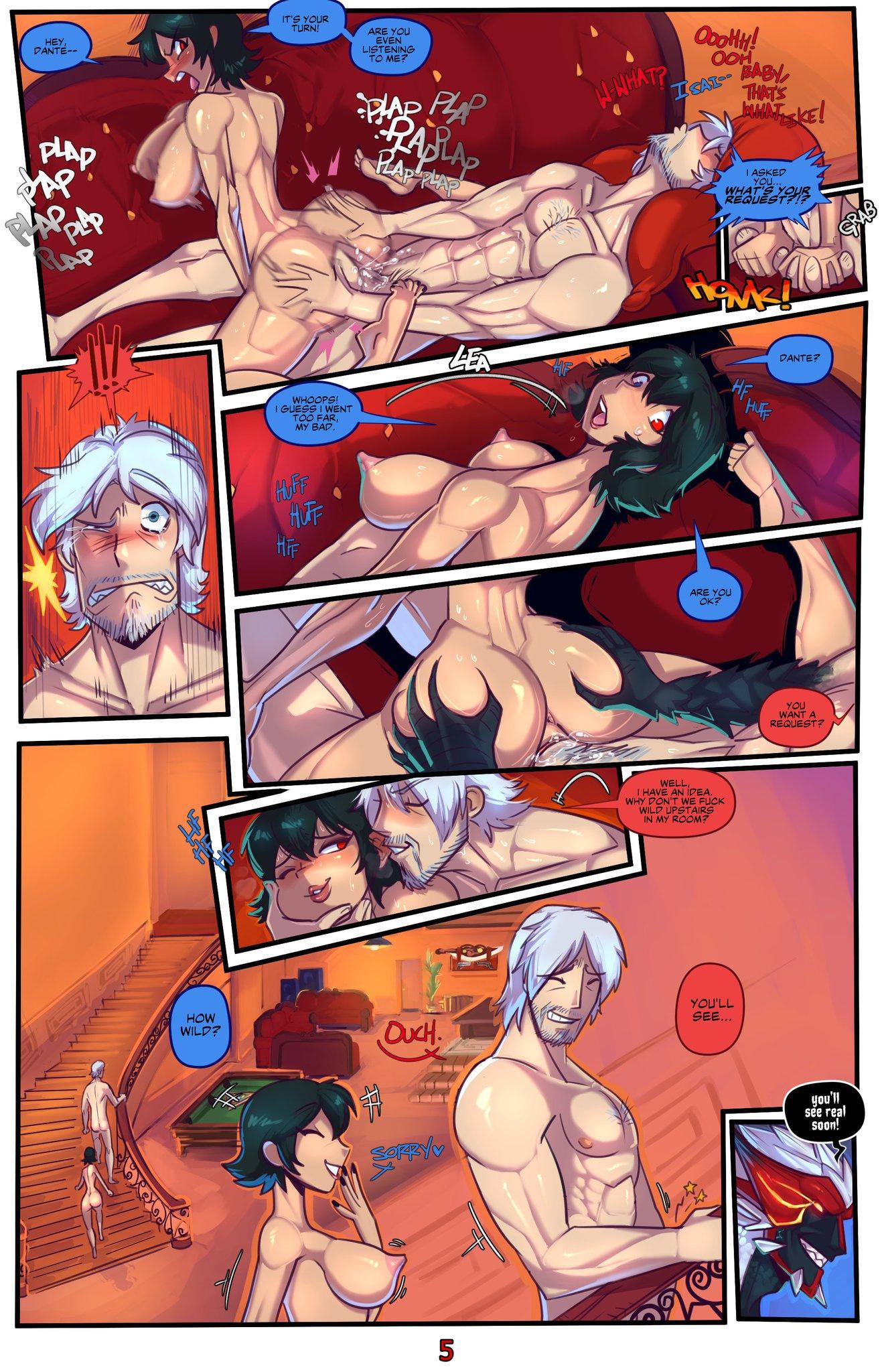 Devil May Fuck: Sex & Gambling porn comics Oral sex, Blowjob, cunnilingus, Stockings, Straight