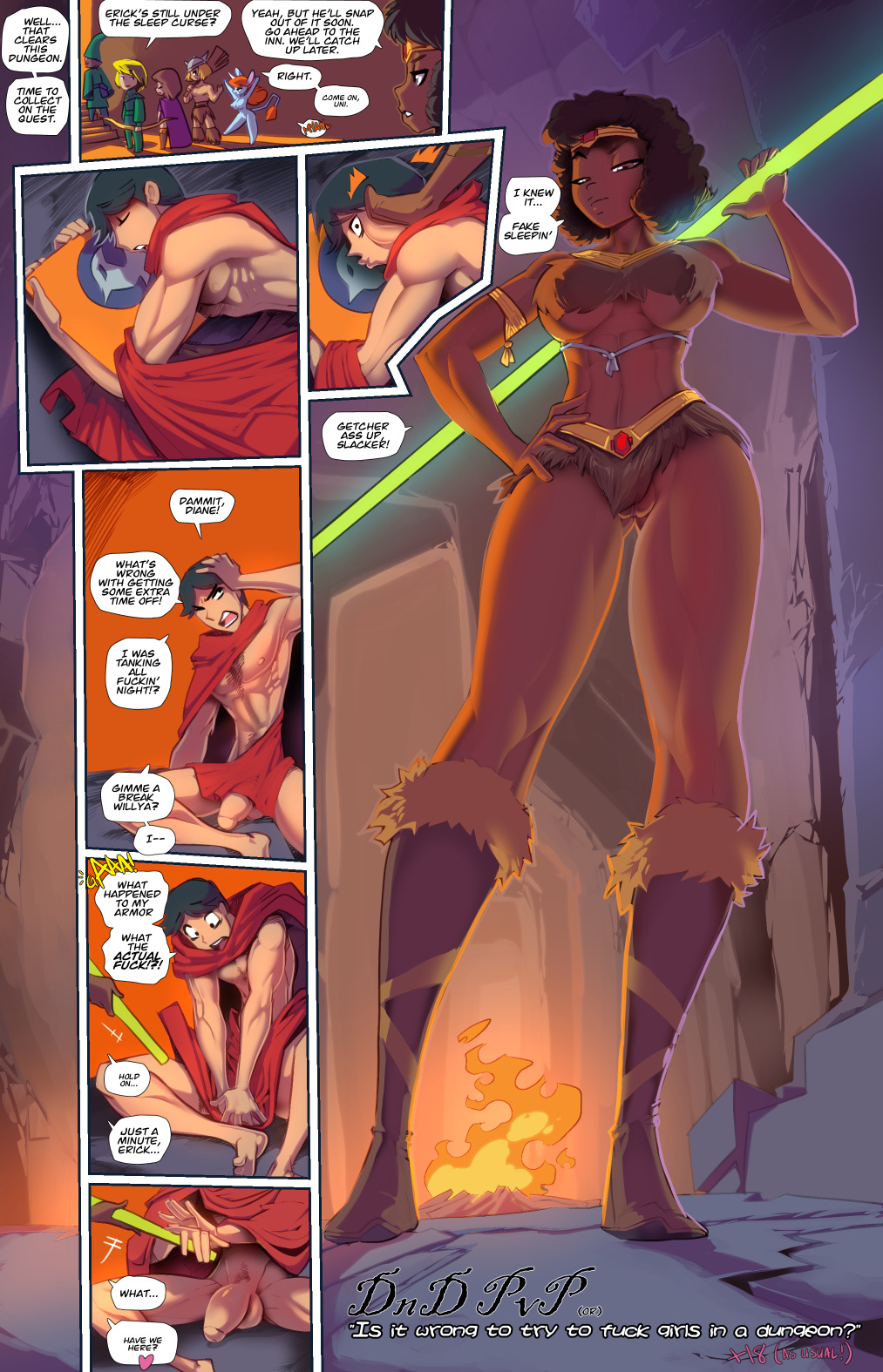 DnD PvP (or) Is It Wrong to Try to Fuck Girls In a Dungeon porn comics Oral sex, Blowjob, Creampie, cunnilingus, Furry, Group Sex, Masturbation, Stockings, Straight, X-Ray