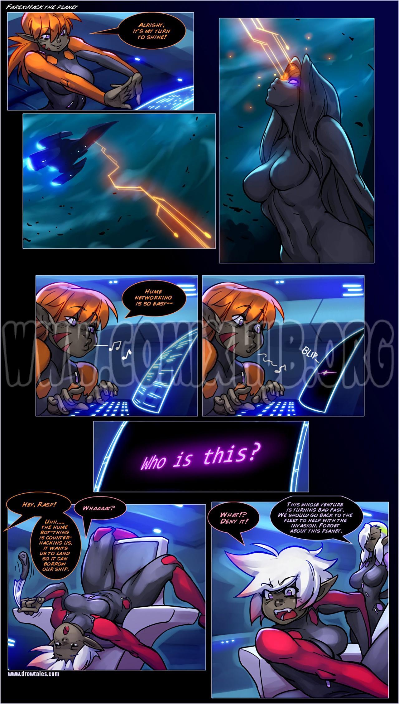 Drowtales Space Age 8 porn comics Oral sex, Anal Sex, cunnilingus, fingering, Futanari, Lesbians, Masturbation, Sci-Fi, Straight, Threesome, X-Ray
