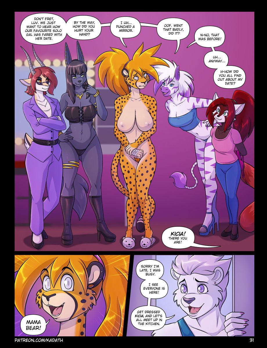 Dynamite's Dating Dilemma porn comics Big Tits, cunnilingus, Furry, Lesbians, Oral sex