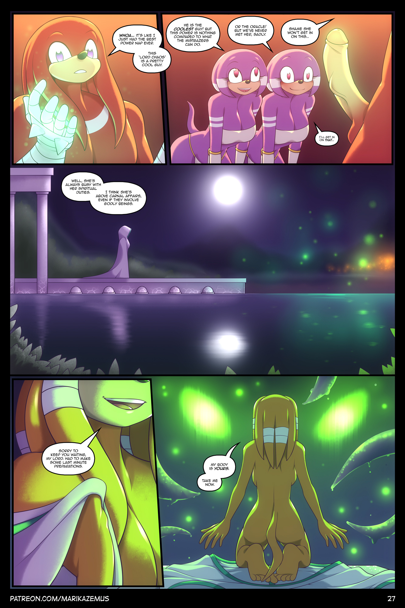 Echidna Nights porn comics Oral sex, Furry