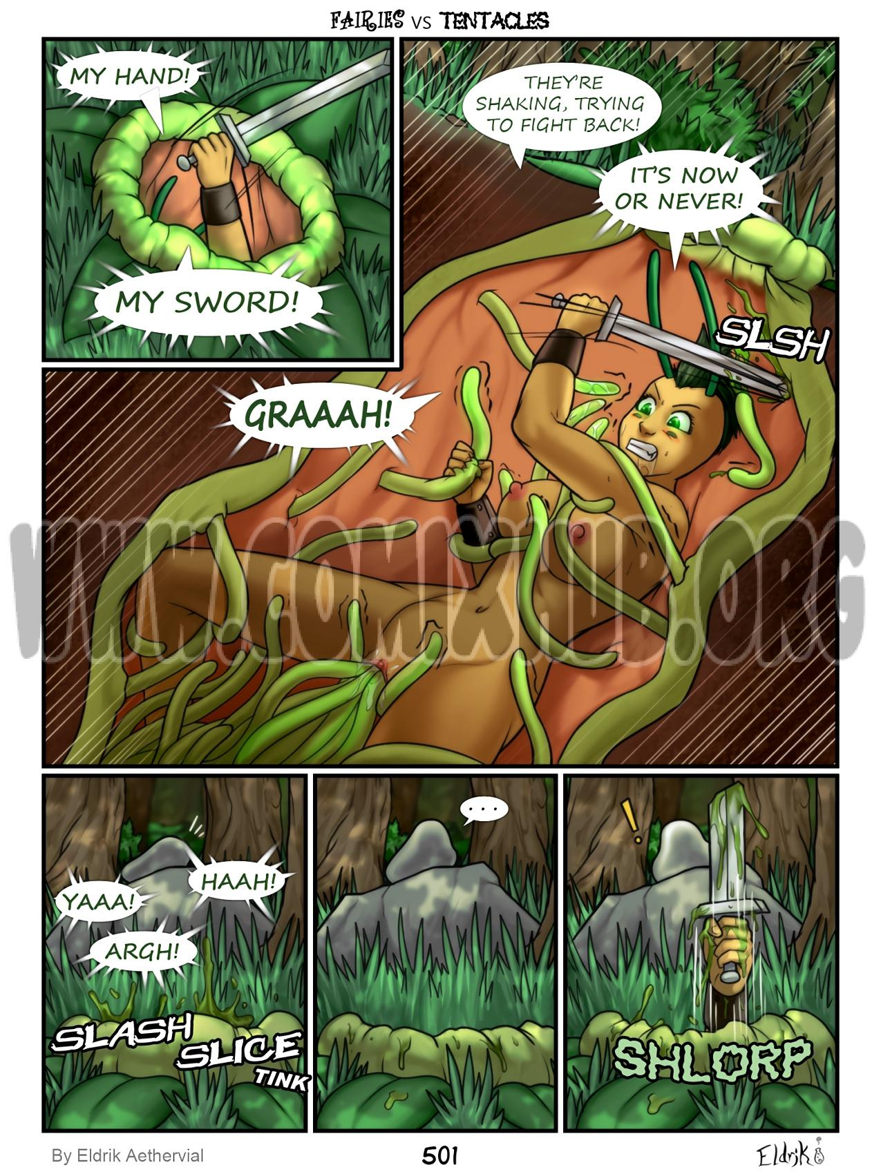 Fairies vs Tentacles 6-7 sex comics Fantasy