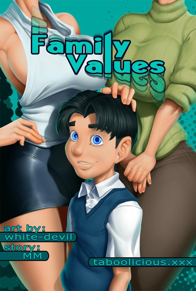Family Values porn comics Oral sex, Big Tits, incest, Masturbation, Straight Shota, Titfuck