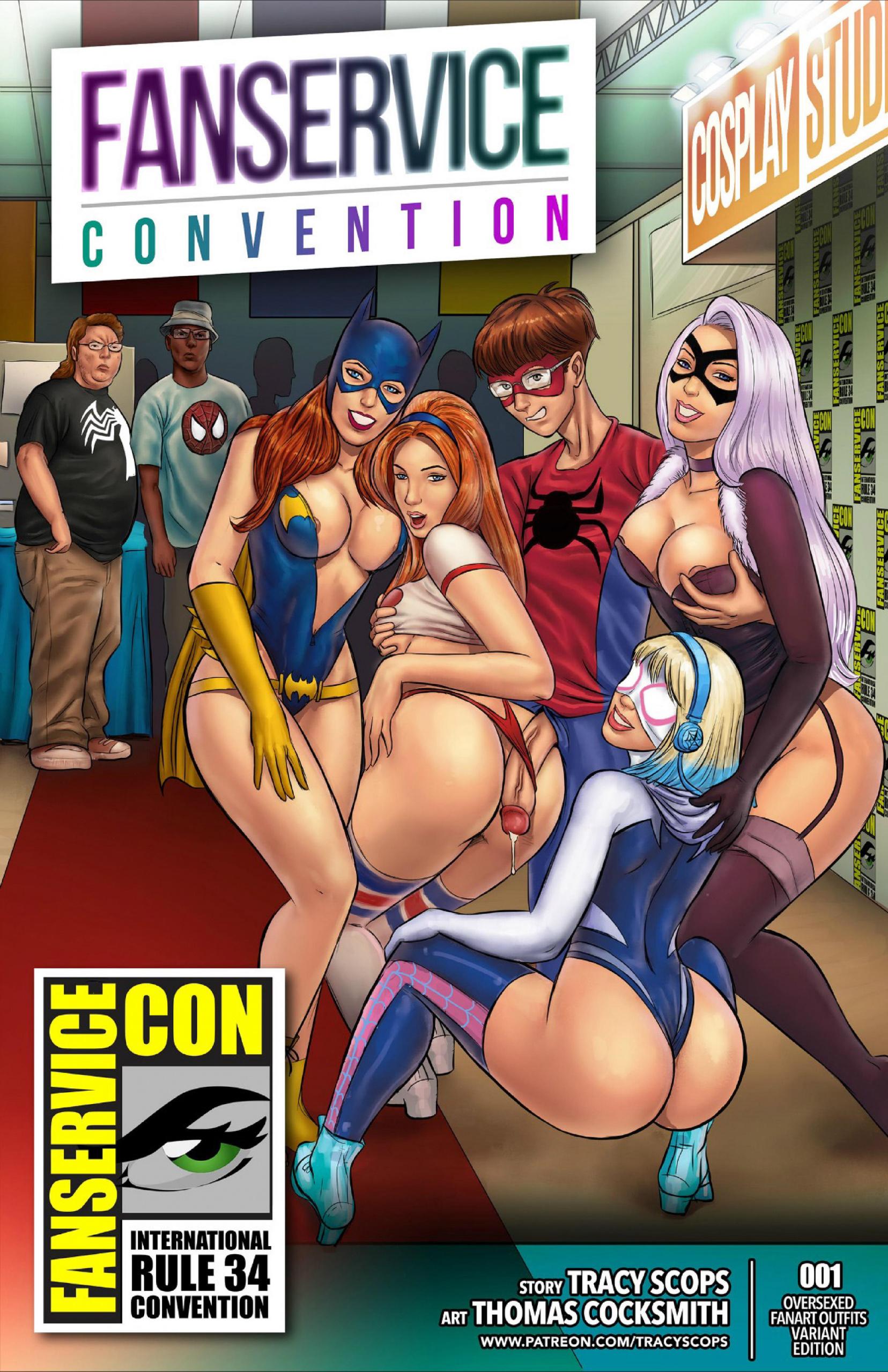 Fan-Service Con porn comics Oral sex, Anal Sex, Blowjob, Creampie, Cum Shots, Cum Swallow, fingering, Group Sex, Stockings, Straight