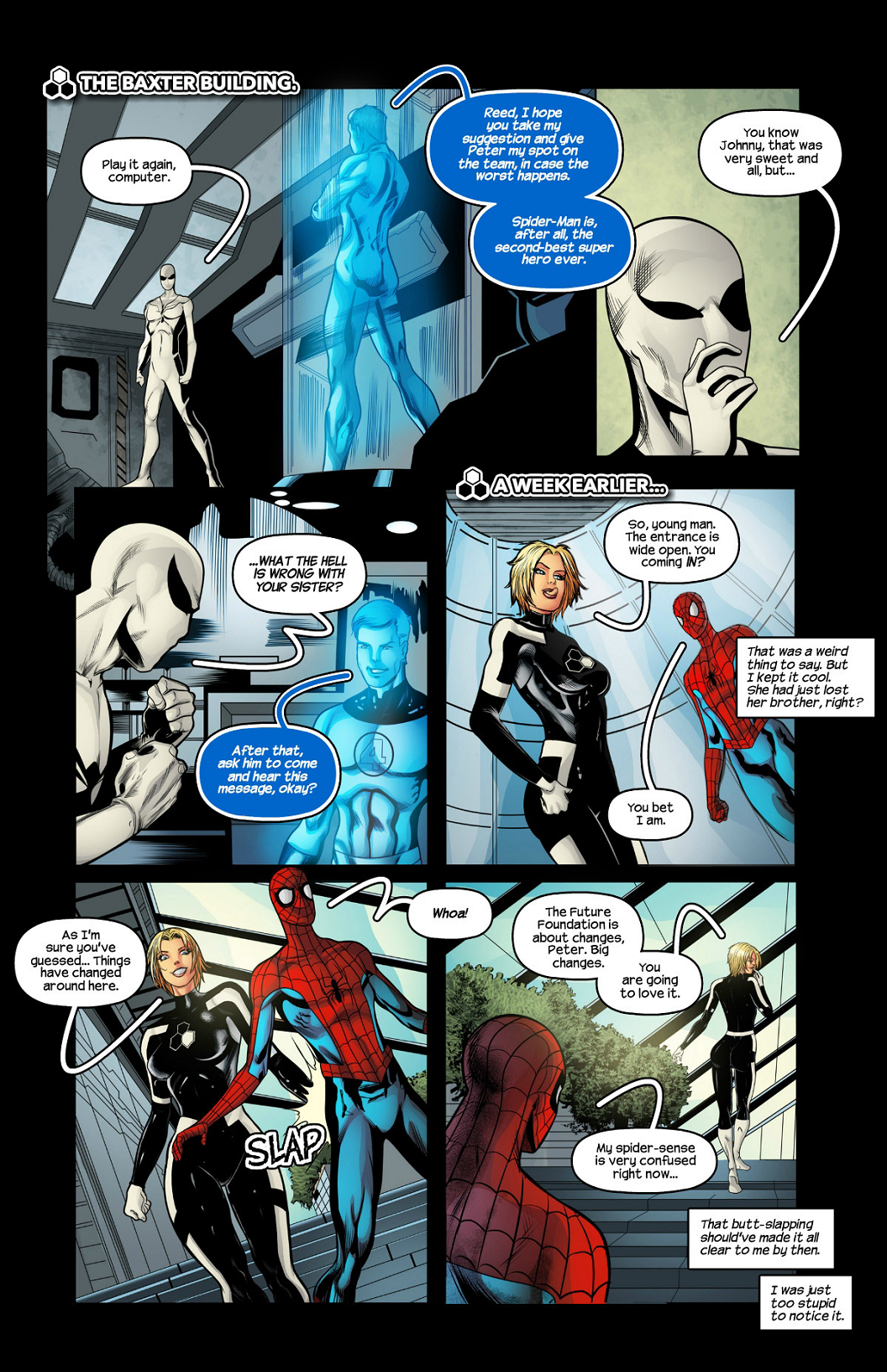 Future Foundation porn comics Anal Sex, BDSM, Blowjob, Creampie, Cum Swallow, Femdom, fingering, Group Sex, Oral sex, Sex Toys, Stockings, Straight, X-Ray