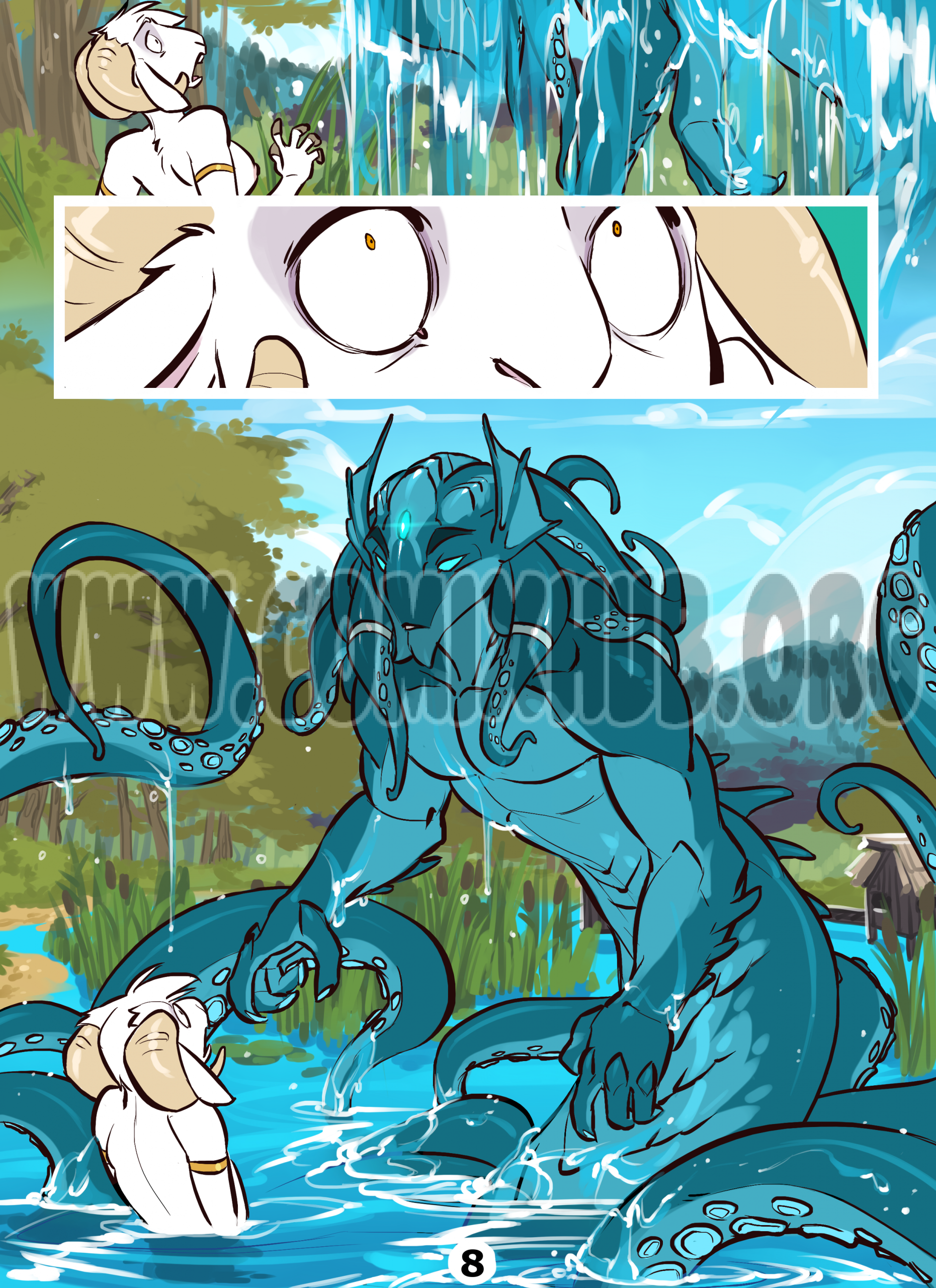 Gift from the Water God porn comics Oral sex, Anal Sex, Blowjob, Creampie, Cum Shots, cunnilingus, Double Penetration, Masturbation, Straight, Tentacles, Titfuck, X-Ray