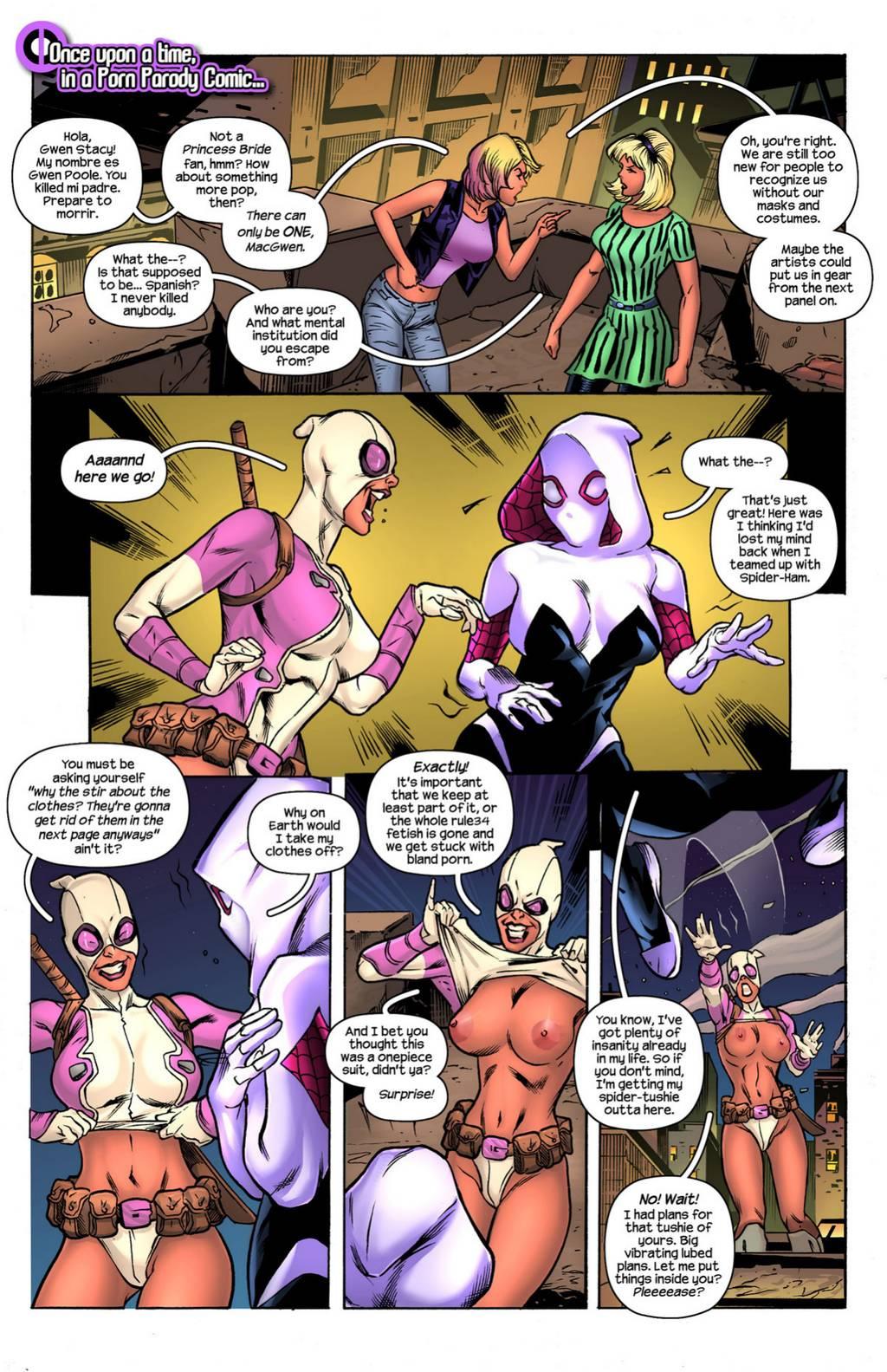 Gwenpool - Radioactive Chimichanga porn comics Group Sex, Lesbians, Stockings