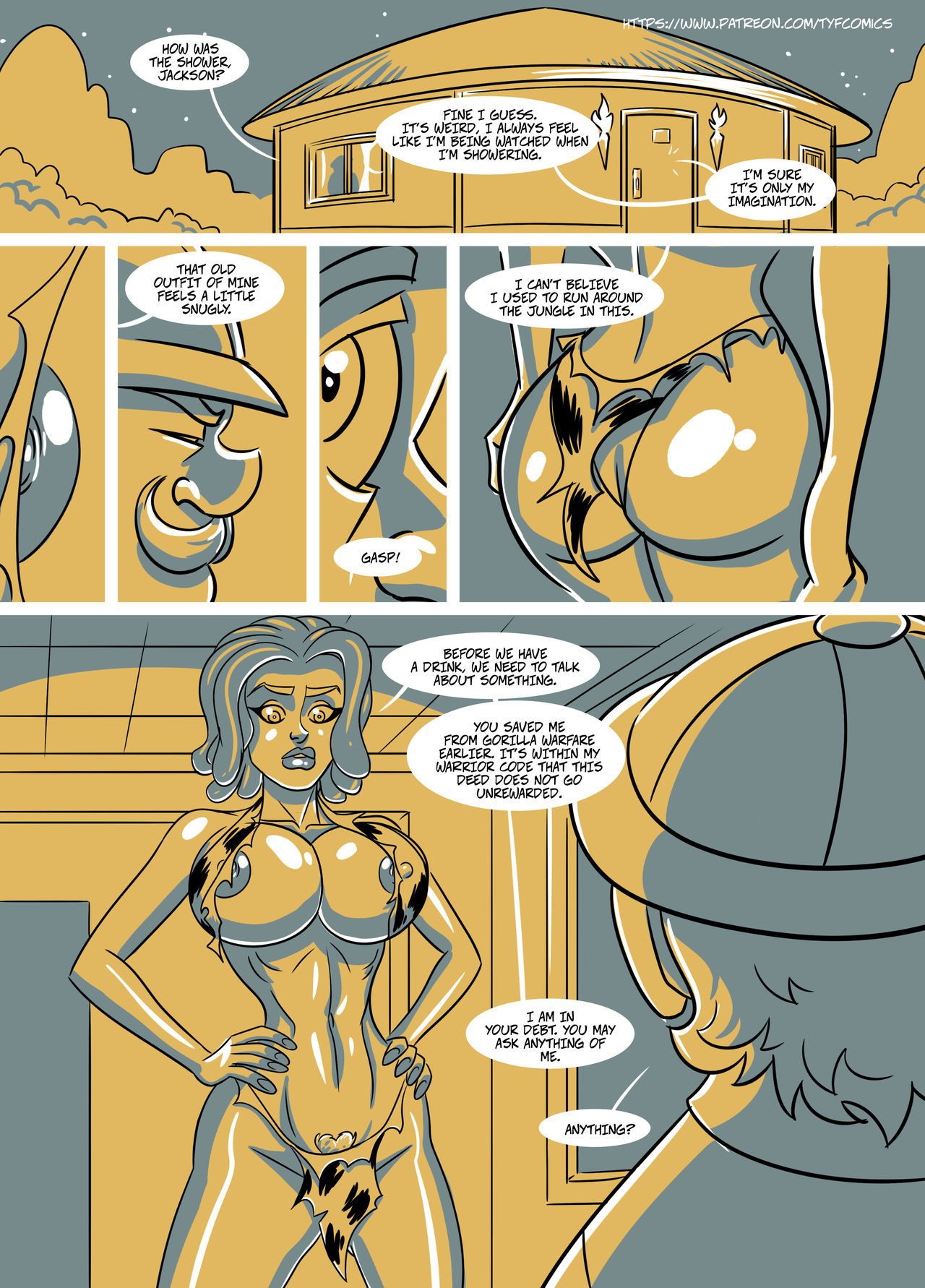 Jungle Jackson porn comics Oral sex, Anal Sex, Big Tits, Double Penetration, Group Sex, Titfuck