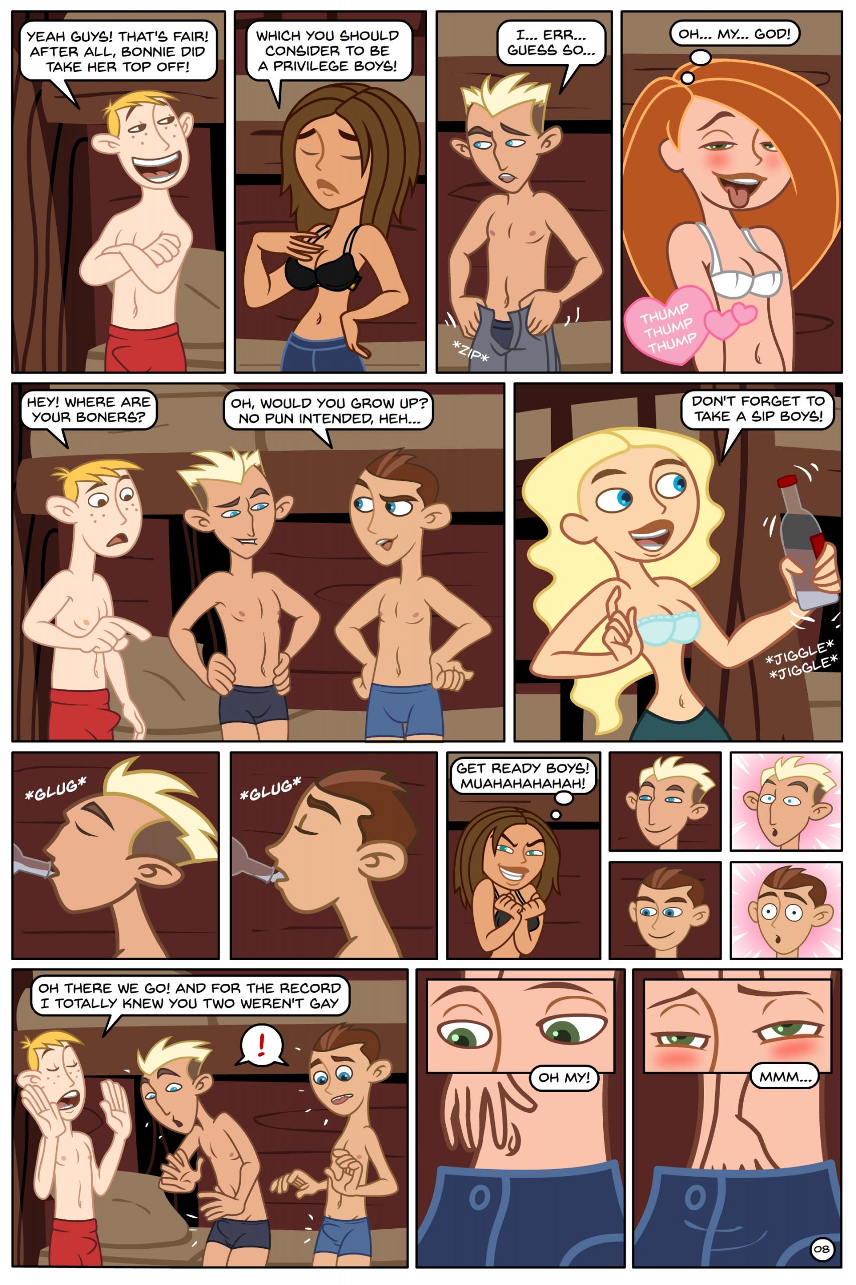 Kim Possible Spin, Sip & Strip! porn comics Oral sex, Group Sex, Lolicon, Masturbation, Straight Shota