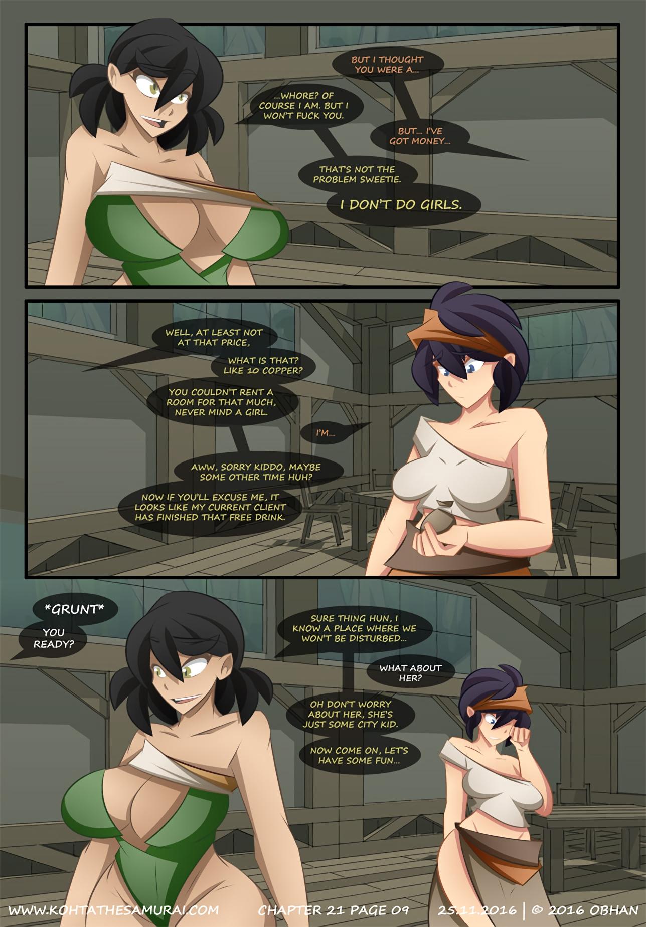 Kohta The Samurai 21-25 porn comics Big Tits, Blowjob, Cum Shots, cunnilingus, Elf, Fantasy, fingering, Lesbians, Masturbation, Oral sex, Straight, Threesome