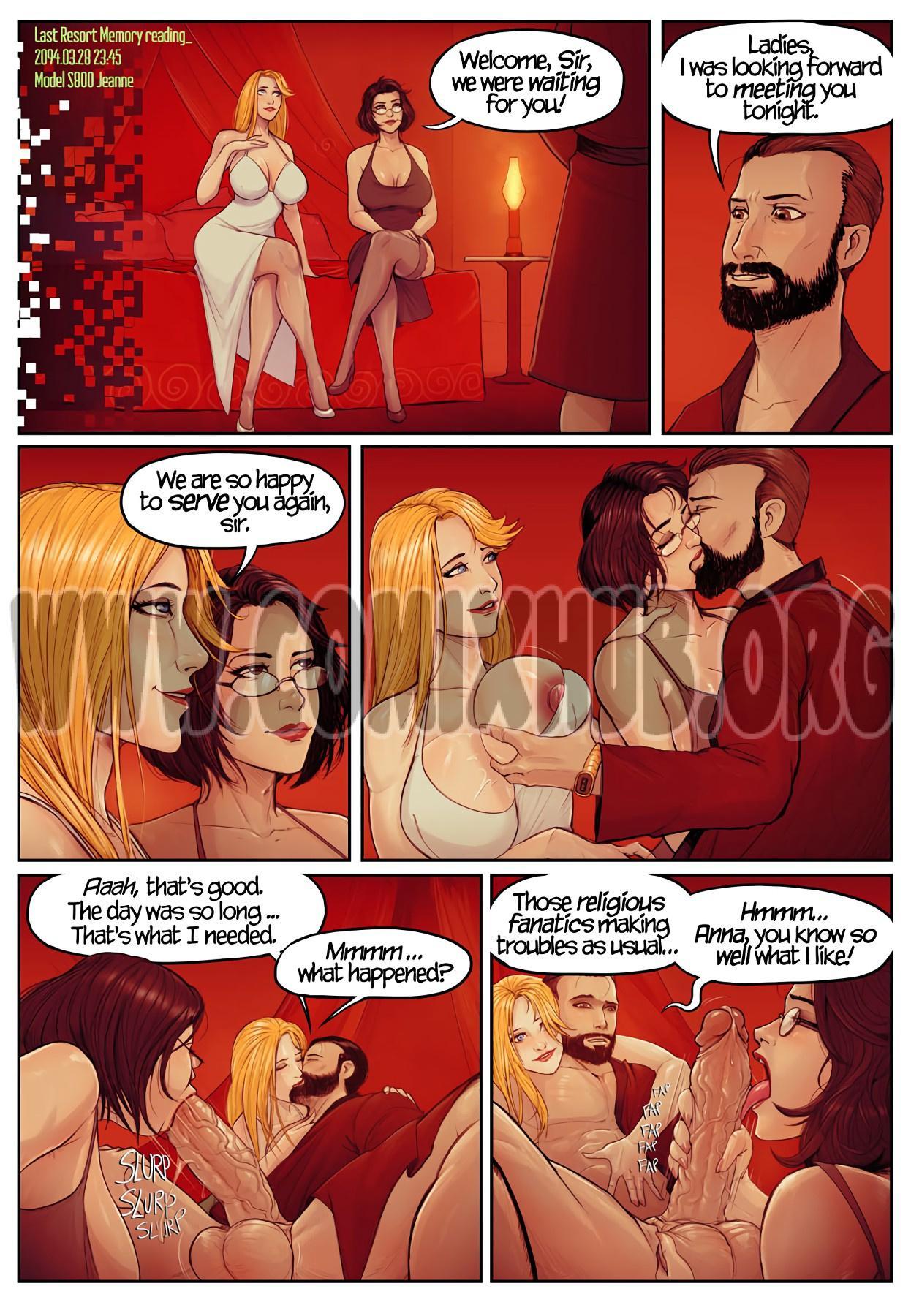 Last Resort Episode 0 porn comics Oral sex, Big Tits, Blowjob, Cum Shots, Glasses, Straight, Threesome, Titfuck