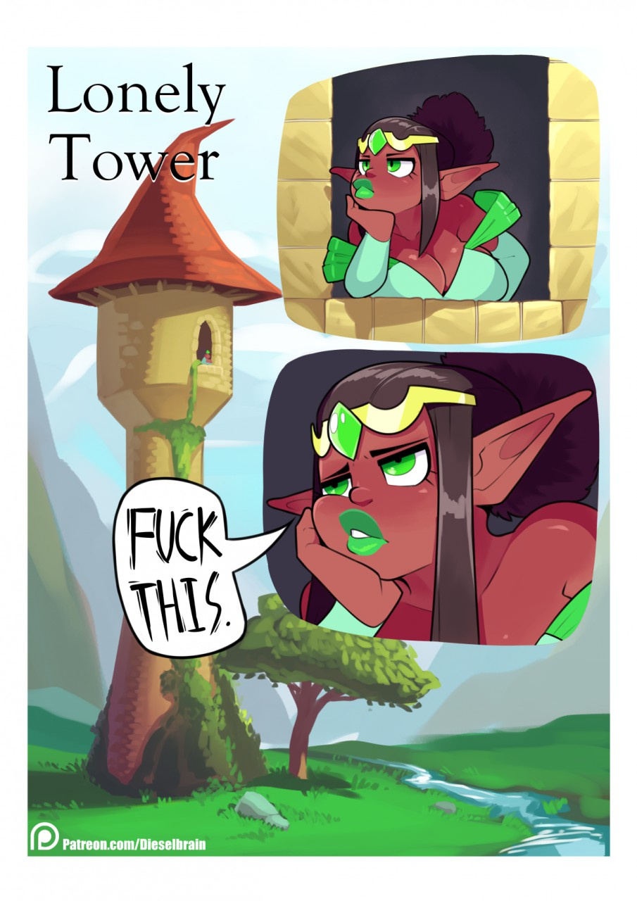 Lonely Tower porn comics Oral sex, Big Tits, Monster Girls, Titfuck