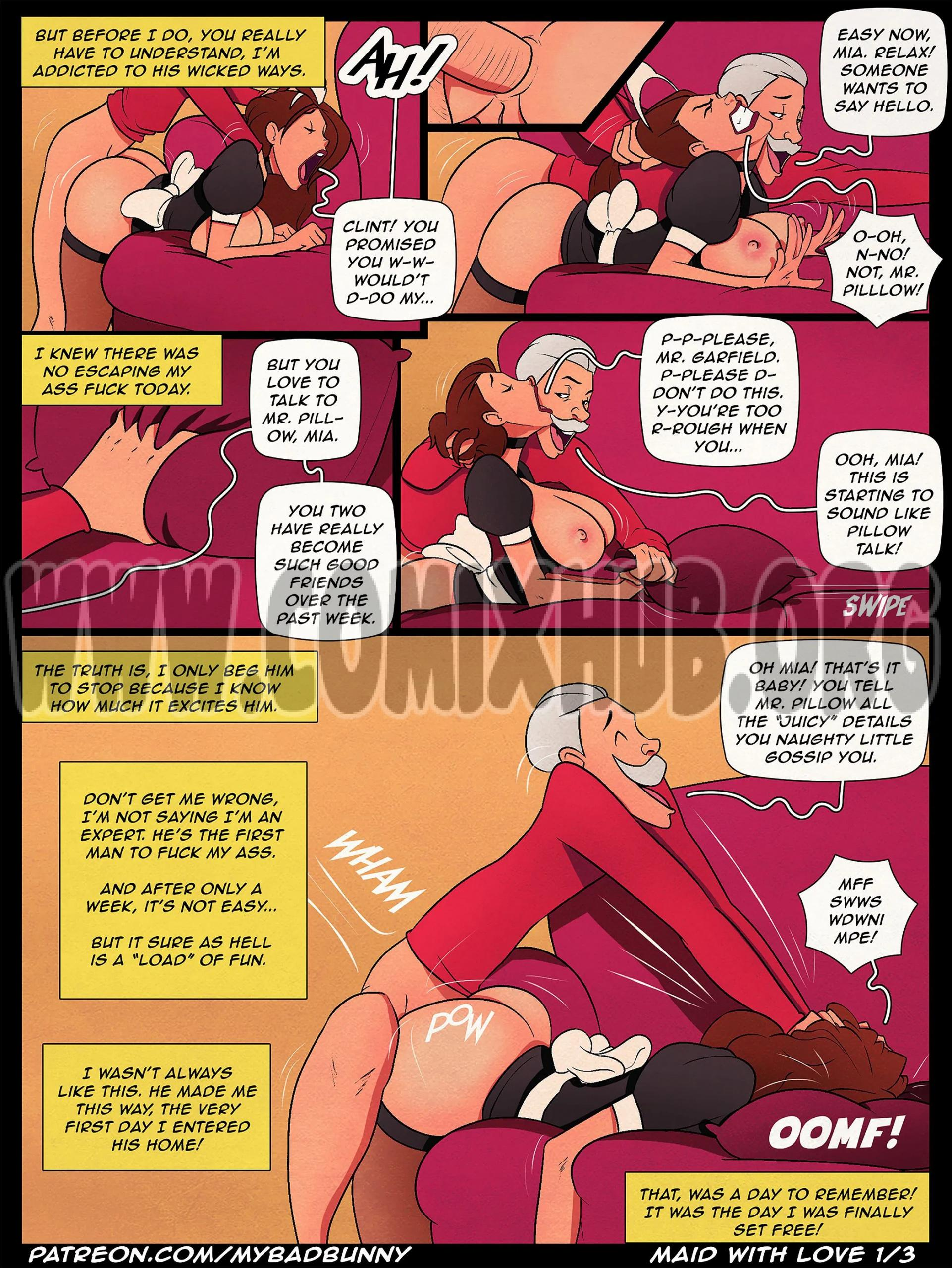 Maid with Love 1 porn comics Oral sex, Anal Sex, Blowjob, Creampie, Deepthroat, Straight, X-Ray