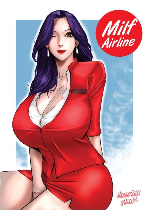Milf Airline porn comics Big Tits, Creampie, Lactation, MILF, Oral sex, Straight, X-Ray