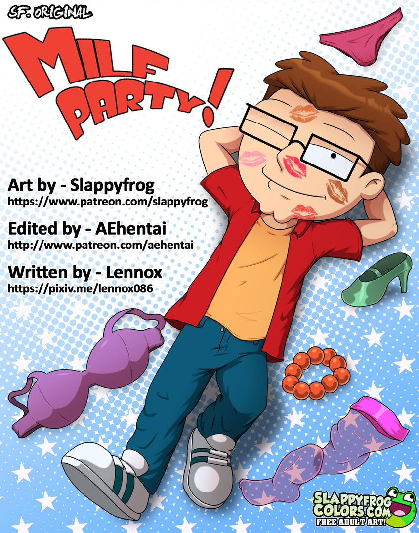 Milf Party! porn comics Oral sex, Anal Sex, Big Tits, Creampie, Cum Shots, Cum Swallow, cunnilingus, Ebony, Glasses, Group Sex, incest, MILF, Stockings, Straight, Straight Shota, Threesome, Titfuck