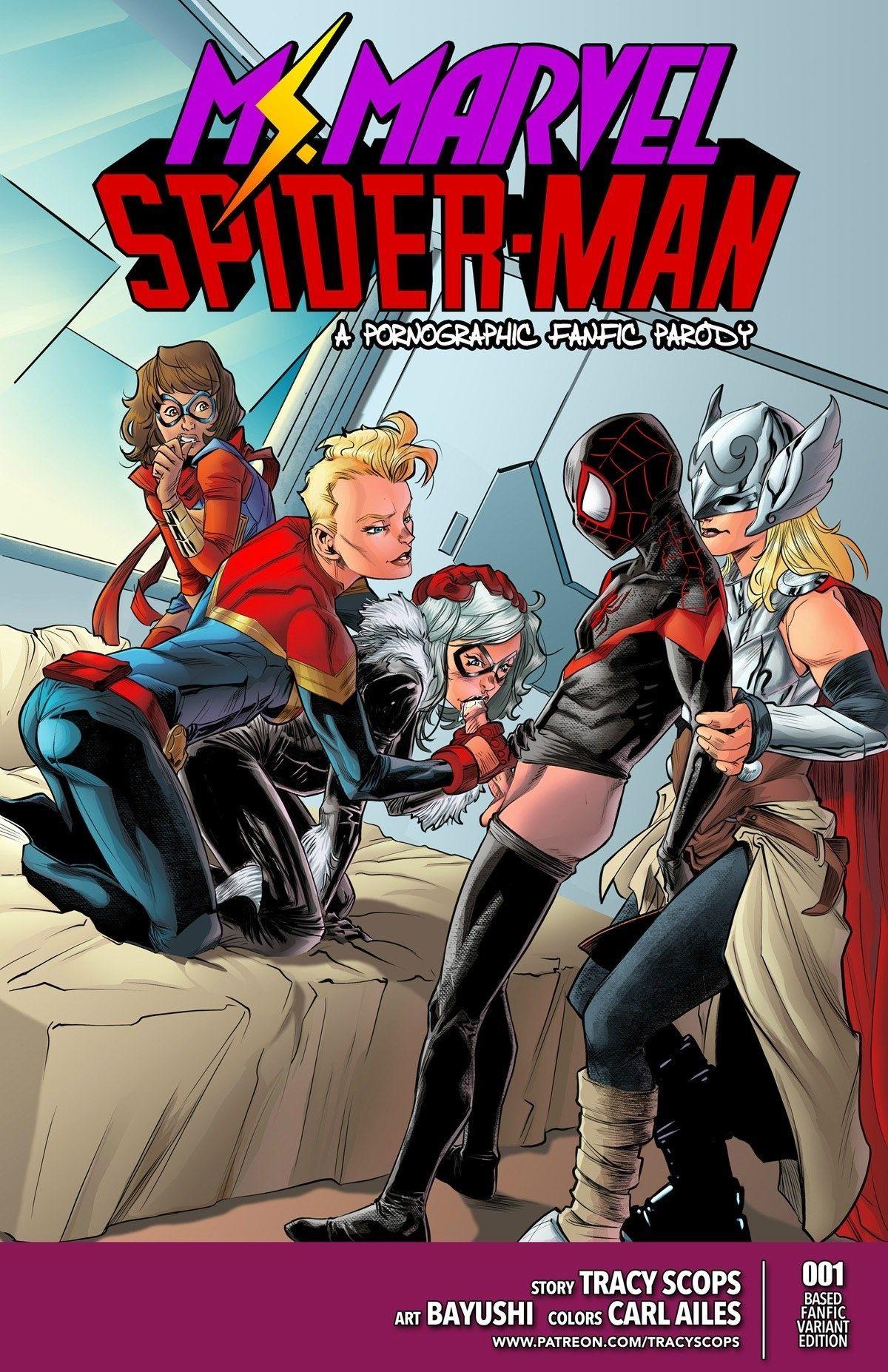 Miss Marvel Spider-Man porn comics Oral sex, Anal Sex, Double Penetration, Group Sex, Stockings