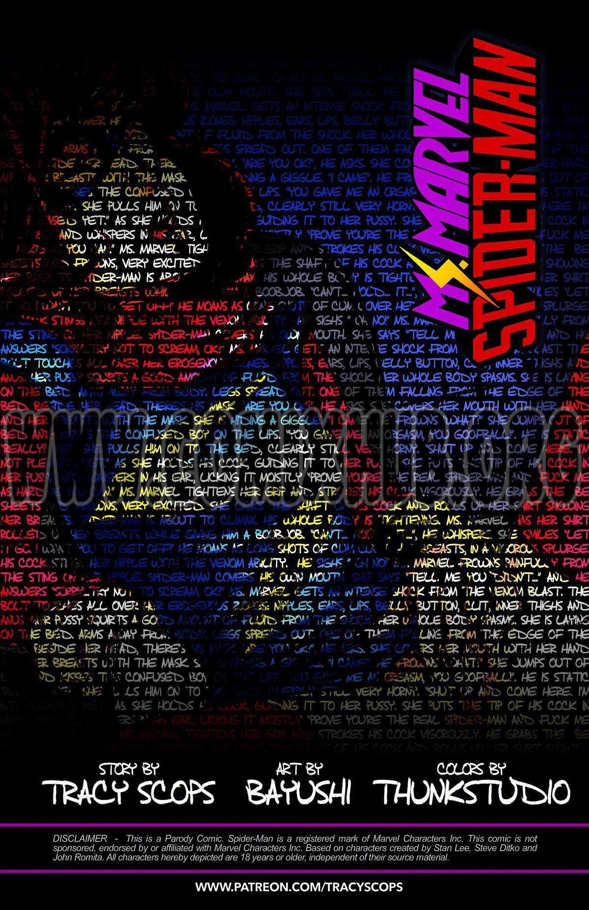 Ms.Marvel - Spiderman 2 porn comics Masturbation, Anal Sex