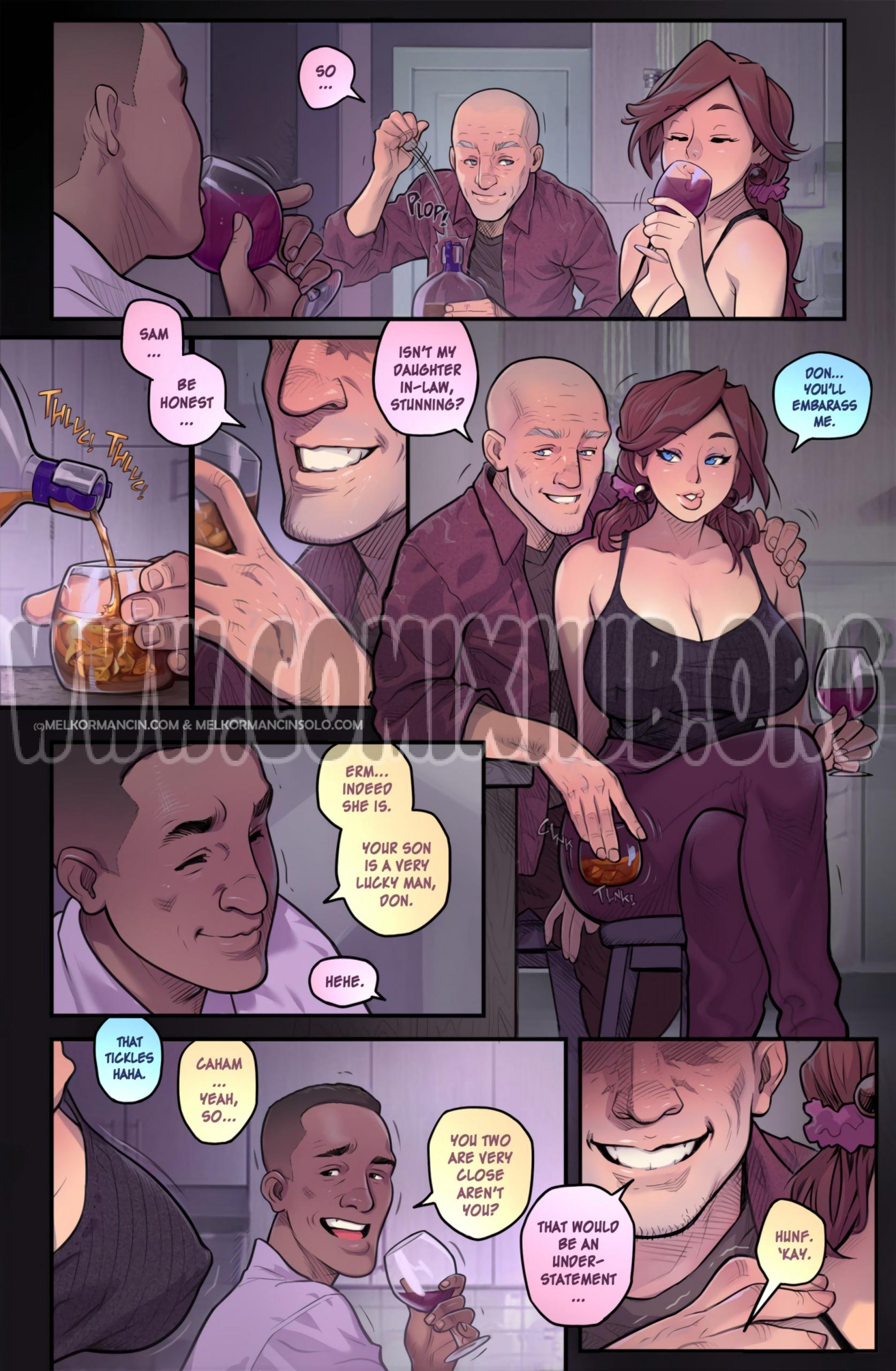 Naughty In Law porn comics Oral sex, Anal Sex, Big Tits, Cum Swallow, cunnilingus, Deepthroat, Double Penetration, Sex Toys, Straight, Threesome, Titfuck