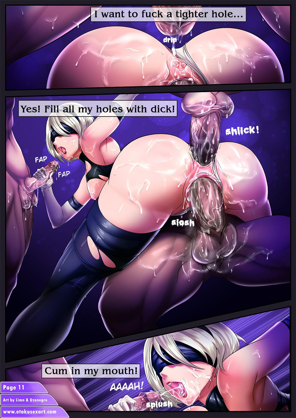 Nier Autofellatio 2: Cumslut Automata porn comics Oral sex, Anal Sex, Blowjob, Creampie, Cum Shots, Cum Swallow, Double Penetration, Gangbang, Group Sex, Masturbation, Stockings, Straight, Threesome, X-Ray