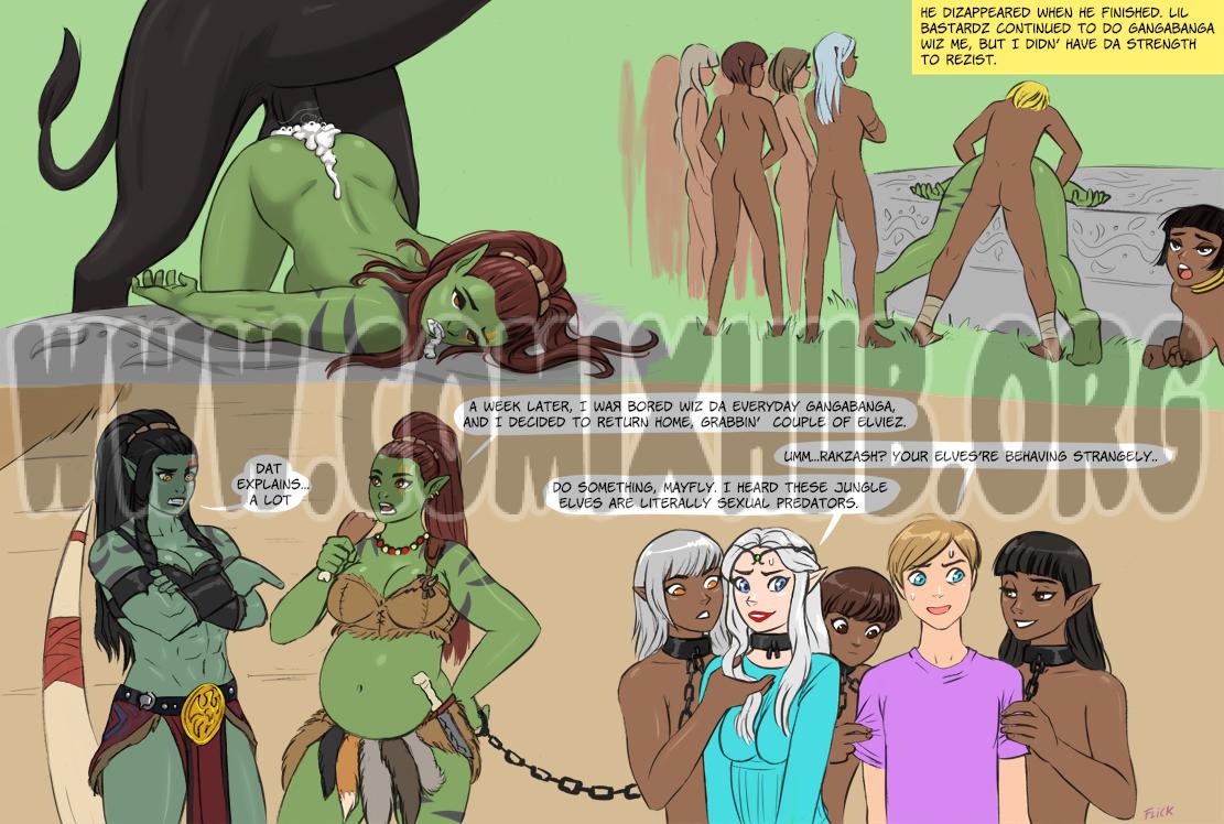 Orcgirl Gangabanga porn comics Oral sex, BDSM, Blowjob, Creampie, Cum Shots, Cum Swallow, Deepthroat, Domination, Fantasy, Gangbang, Straight