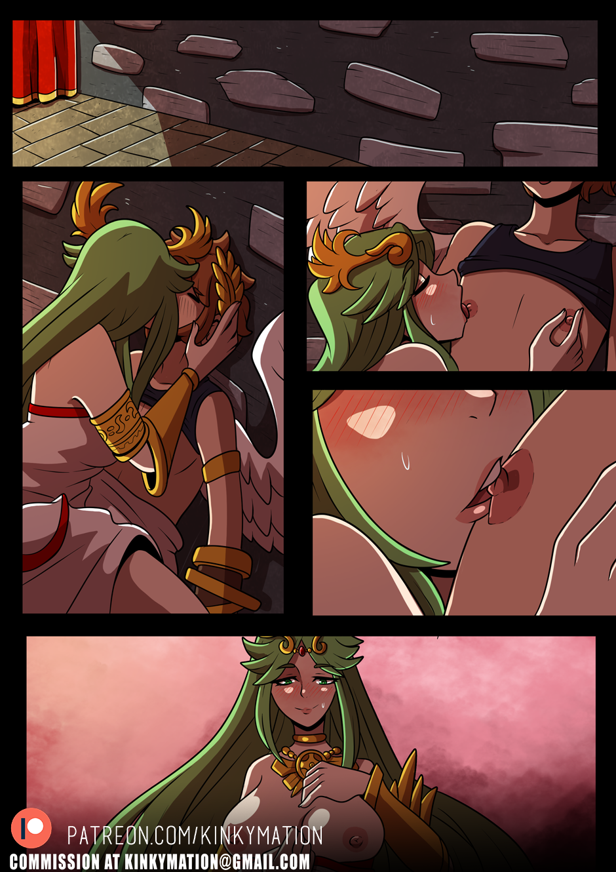 Palutena and Pit 2 porn comics Oral sex, Big Tits, Blowjob, Fantasy, Femdom, Straight, Straight Shota, Submission, Titfuck