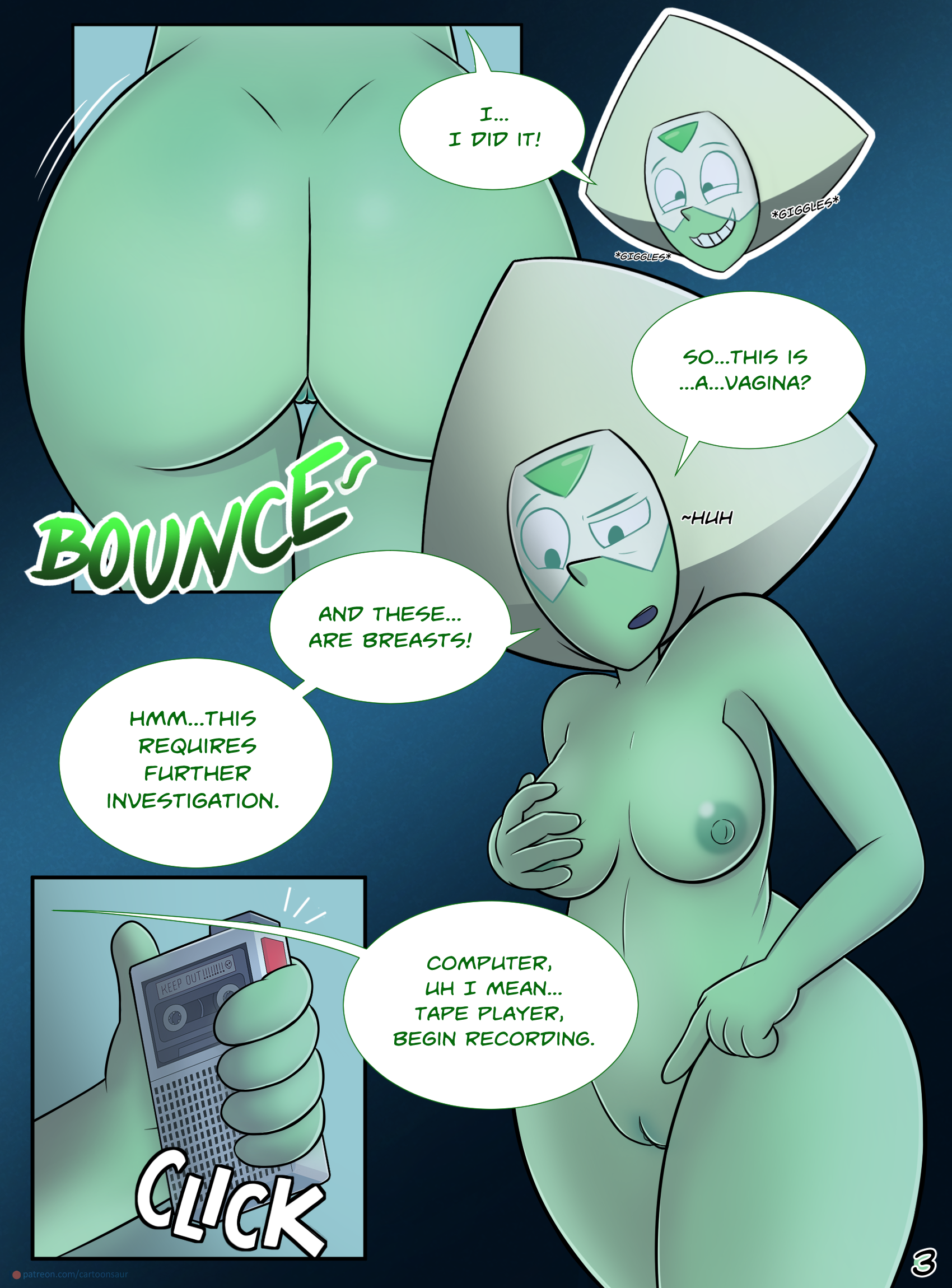 Peridot 'Experiments' porn comics Masturbation, Aliens