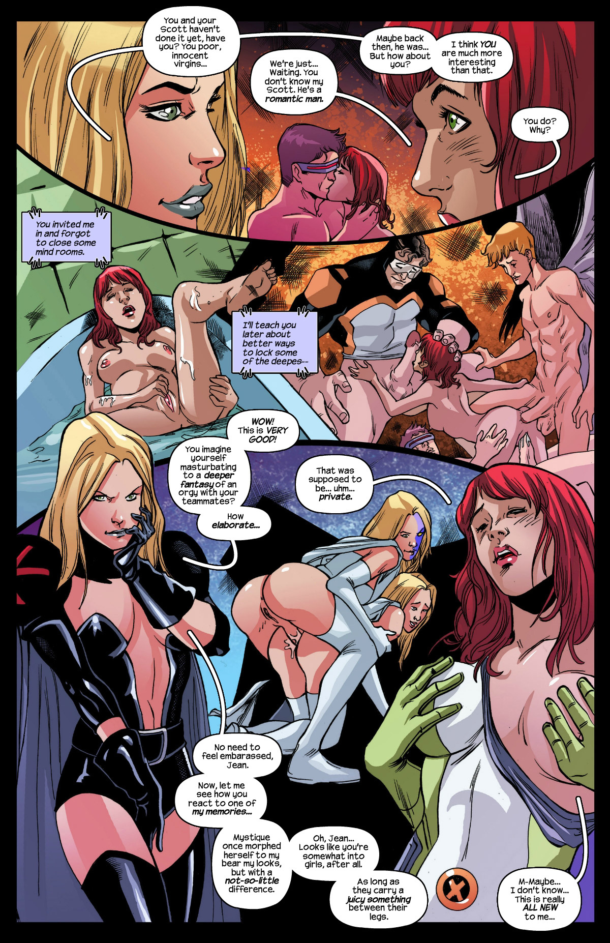 PsychoNymphos porn comics Oral sex, Group Sex, Stockings