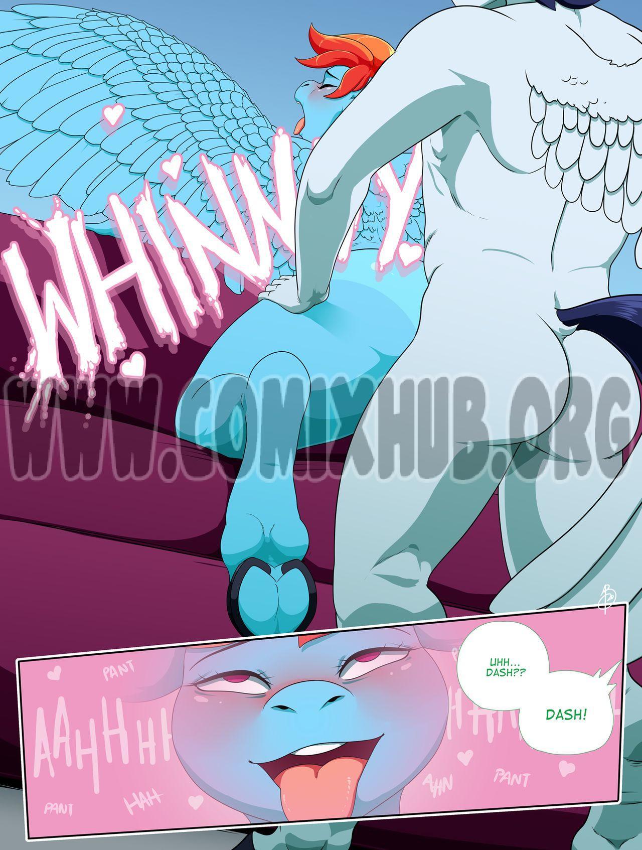 Rainbrood Dash adult comics Straight, Transformation