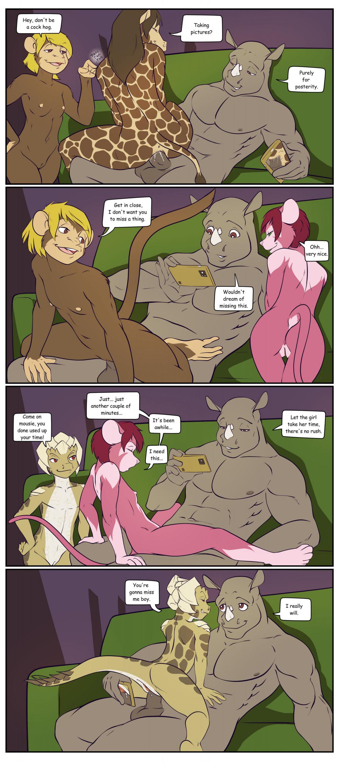 Rick's Goodbye Party porn comics Masturbation, Cum Shots, Cum Swallow, Furry, Group Sex, Straight