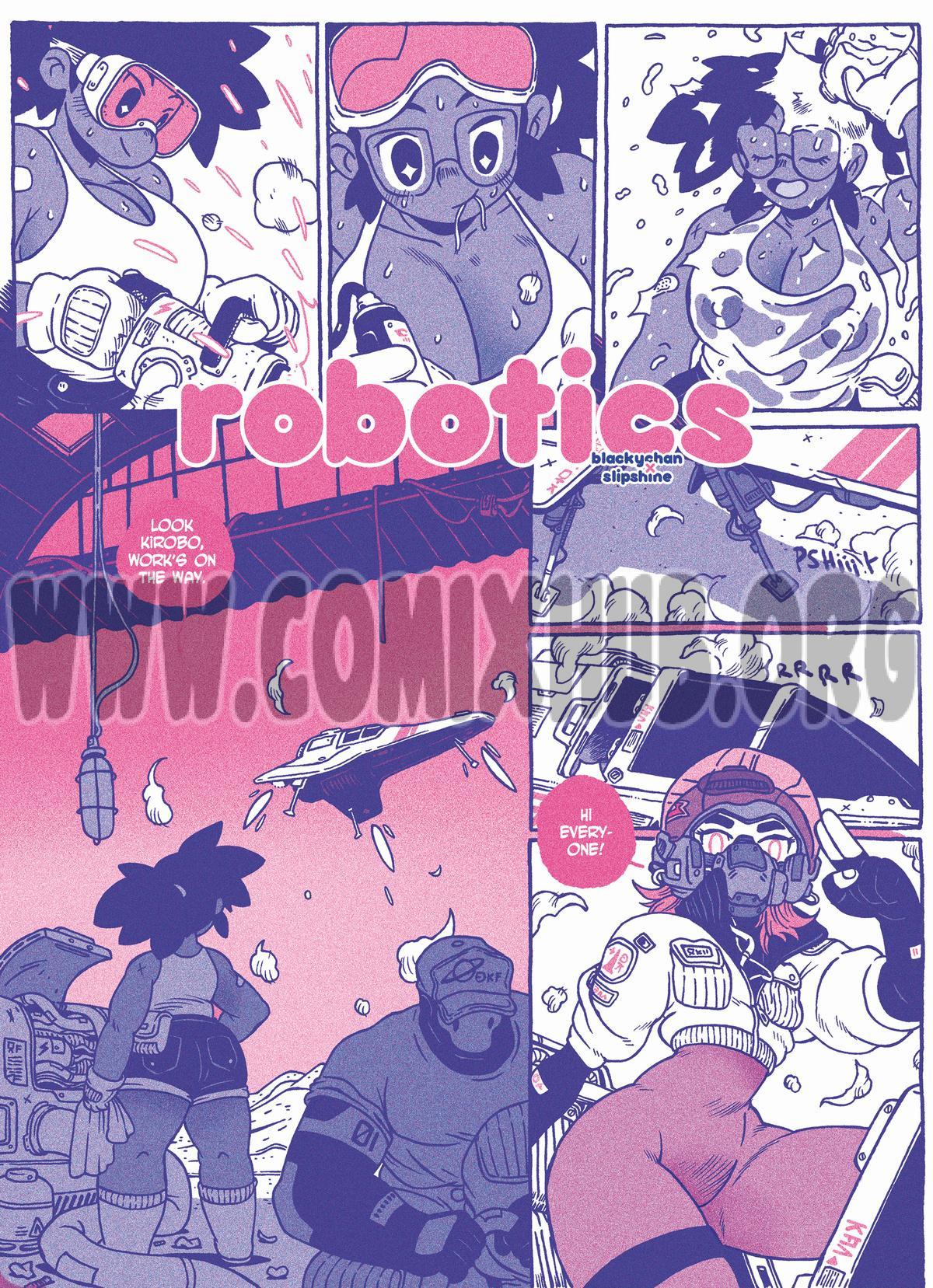 Robotics porn comics Oral sex, Anal Sex, Blowjob, Cum Shots, Cum Swallow, Glasses, Sci-Fi, Straight, Titfuck