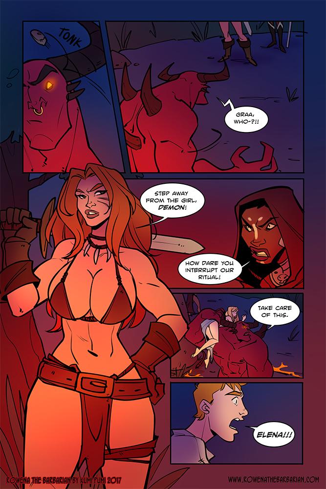 Rowena the Barbarian porn comics Anal Sex, Big Tits, Blowjob, Double Penetration, Fantasy, Oral sex, Tentacles